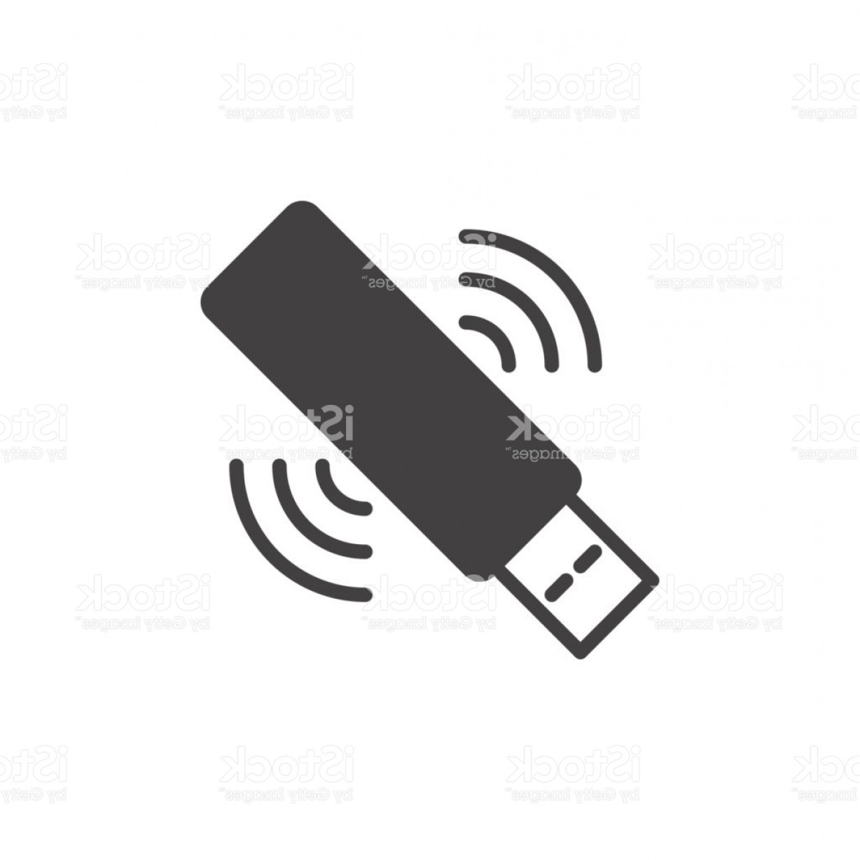 USB Icon Vector: Wifi Usb Stick Icon Vector Filled Flat Sign Gm