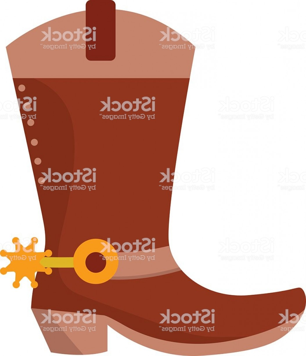 Spurs Clip Art Vector: Wild West Leather Cowboy Boot With Spurs And Stars Vector Gm