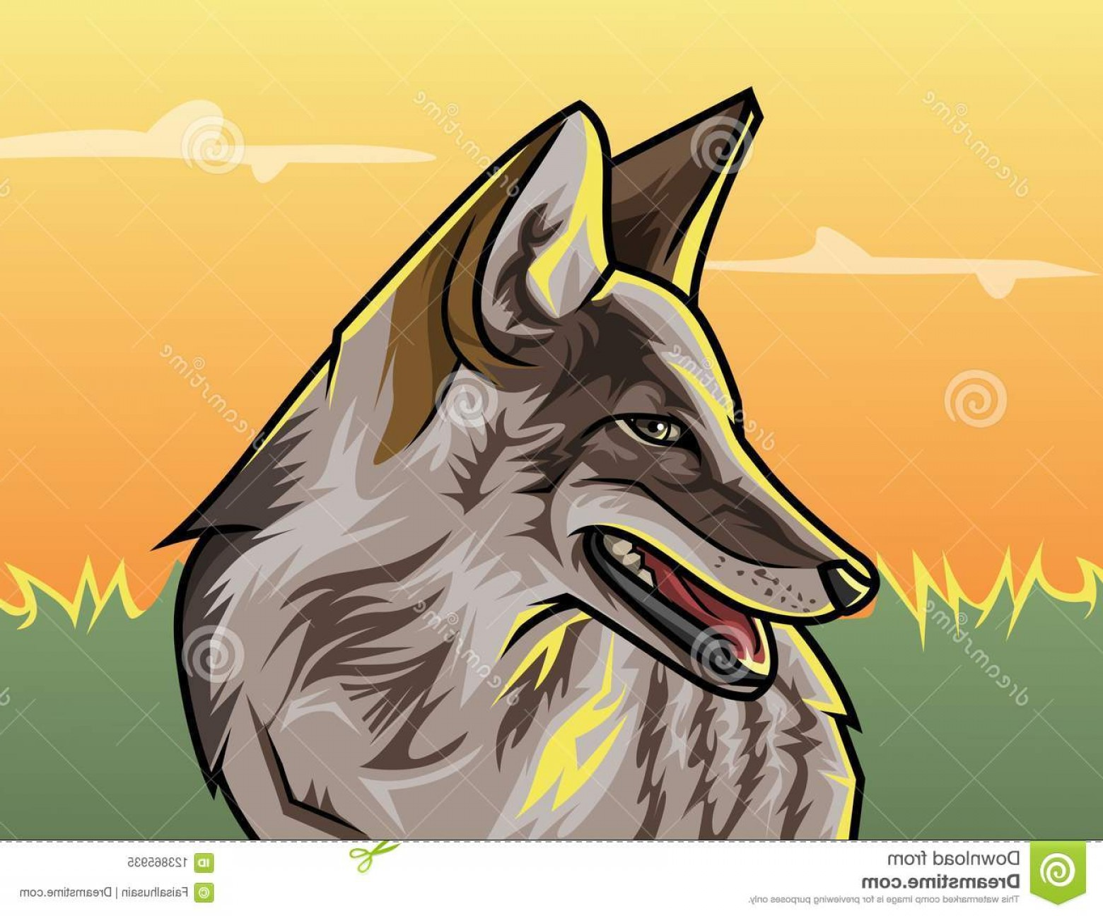 GTA Photo To Vector: Wild Wolf Gta Style Vector Illustration Wild Wolf Vector Illustration Like Gta Style Eps File Image