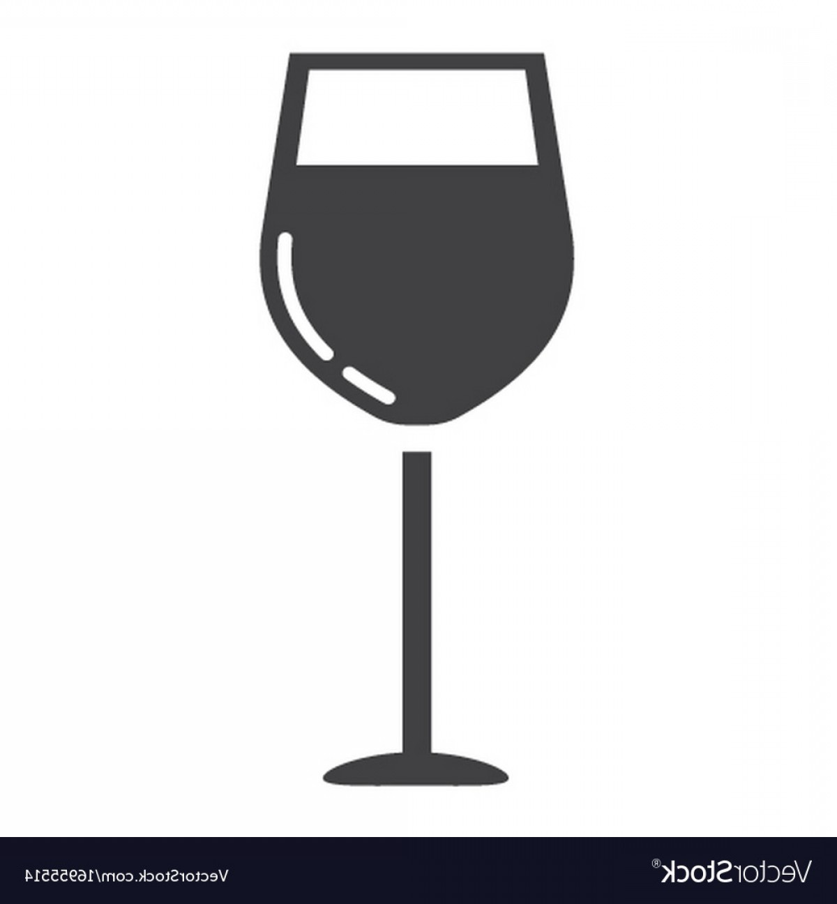 Alcohol Vector: Wine Glass Glyph Icon Food And Drink Alcohol Vector