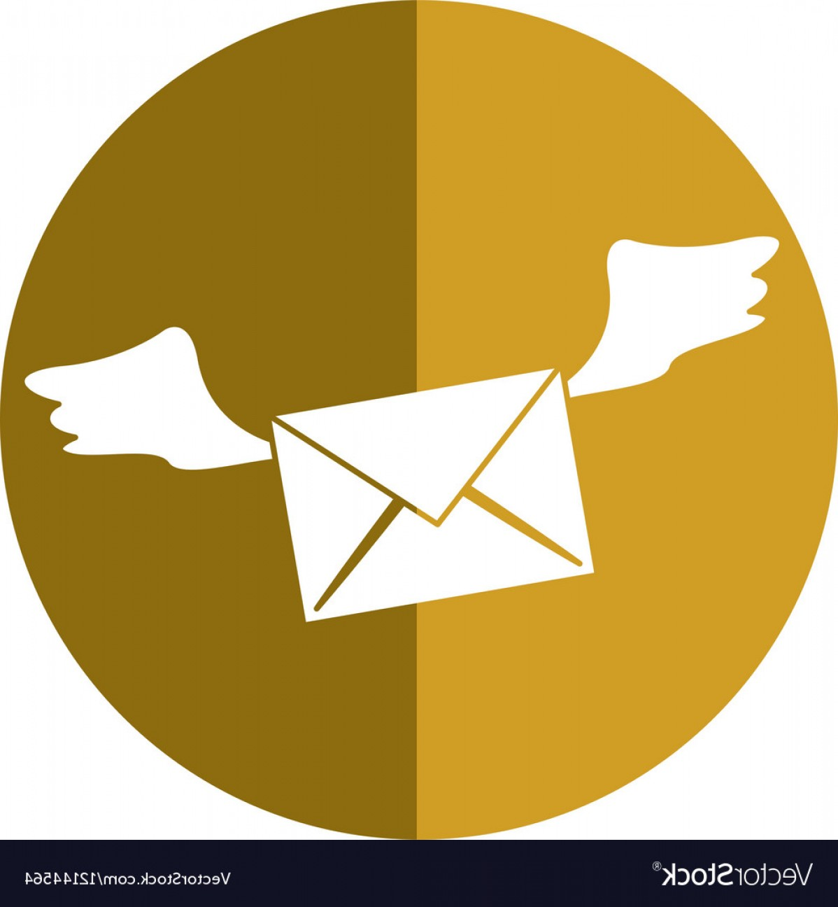 Vector Envelope Express: Winged Email Envelope Mail Express Shadow Vector