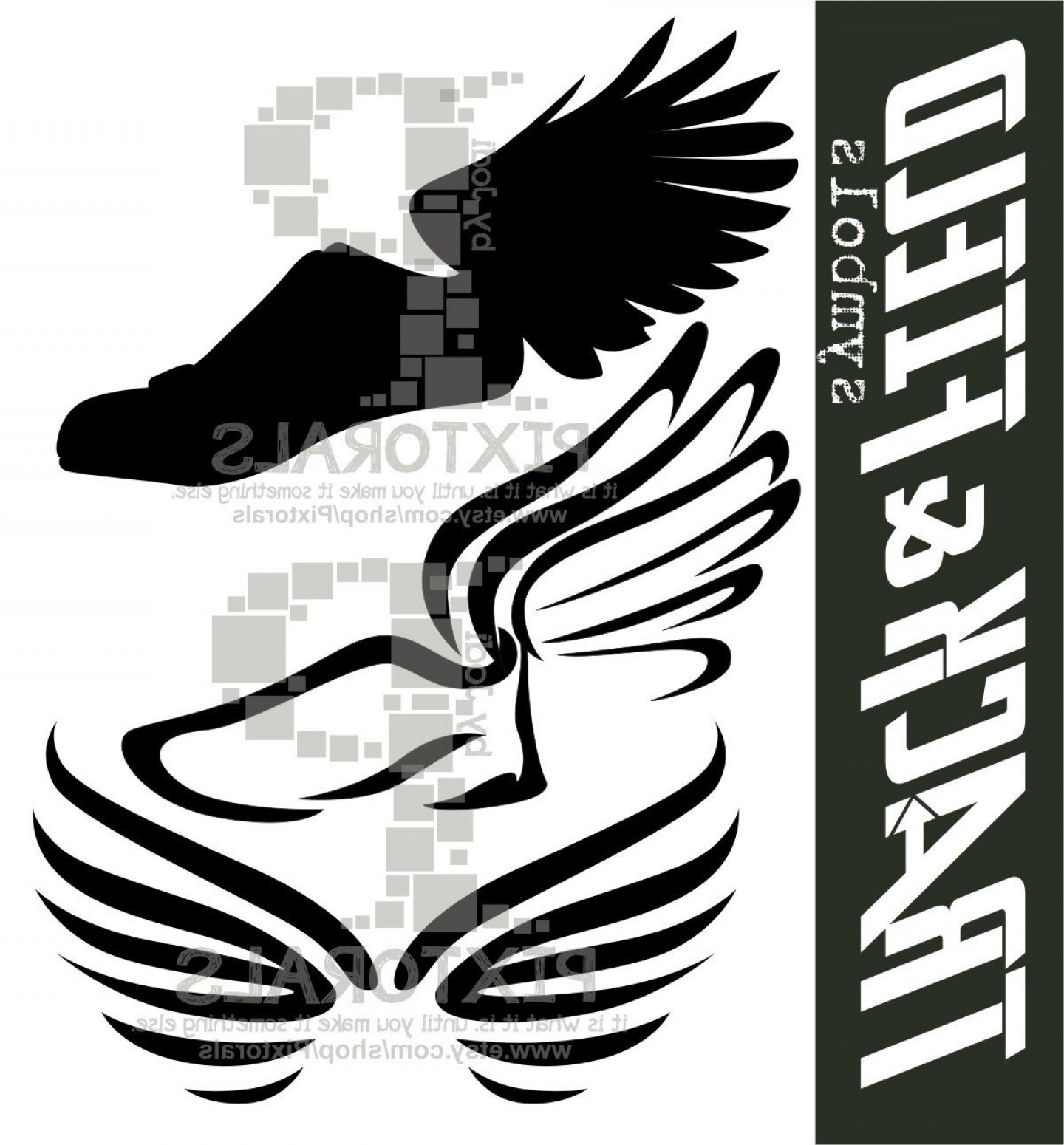Track Vector: Winged Shoe Vectors Eps Eps File