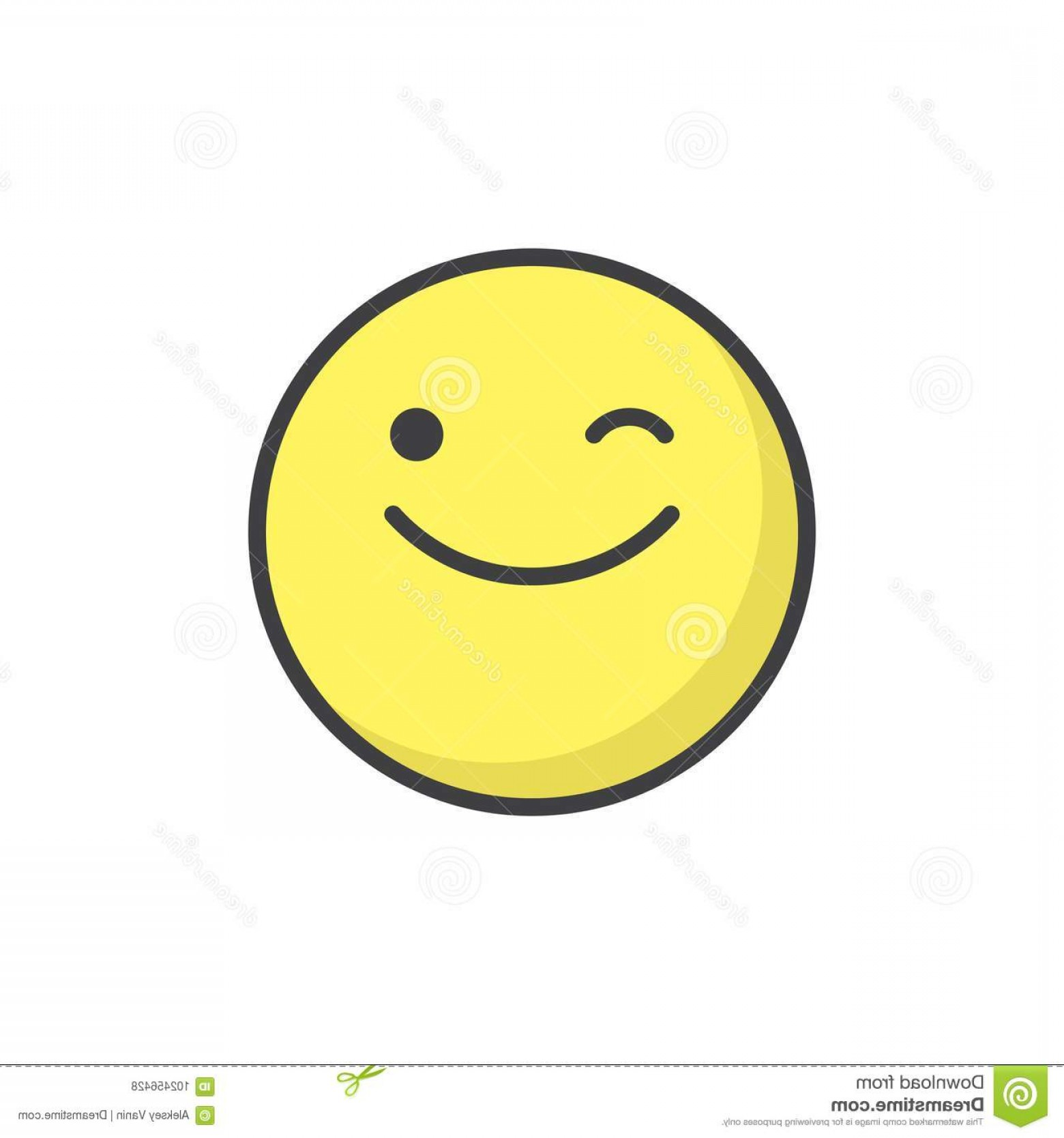 Smiley-Face Winking Vector: Winking Face Emoticon Filled Outline Icon Line Vector Sign Linear Colorful Pictogram Isolated White Emoji Smiley Symbol Logo Image