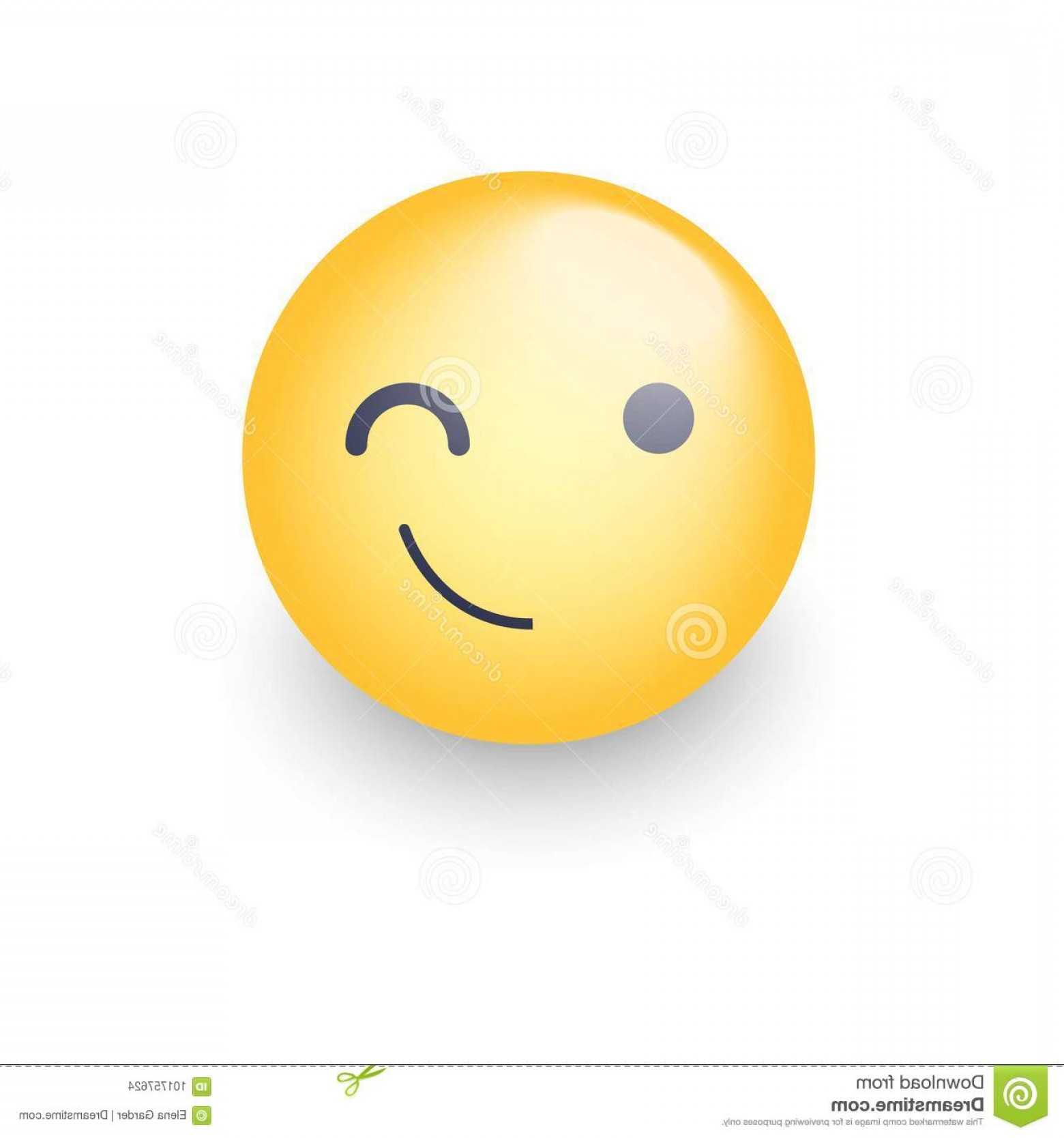 Smiley-Face Winking Vector: Winking Fun Cartoon Emoji Face Wink Smile Happy Vector Emoticon Smiley Chat App Winking Fun Cartoon Emoji Face Wink Image