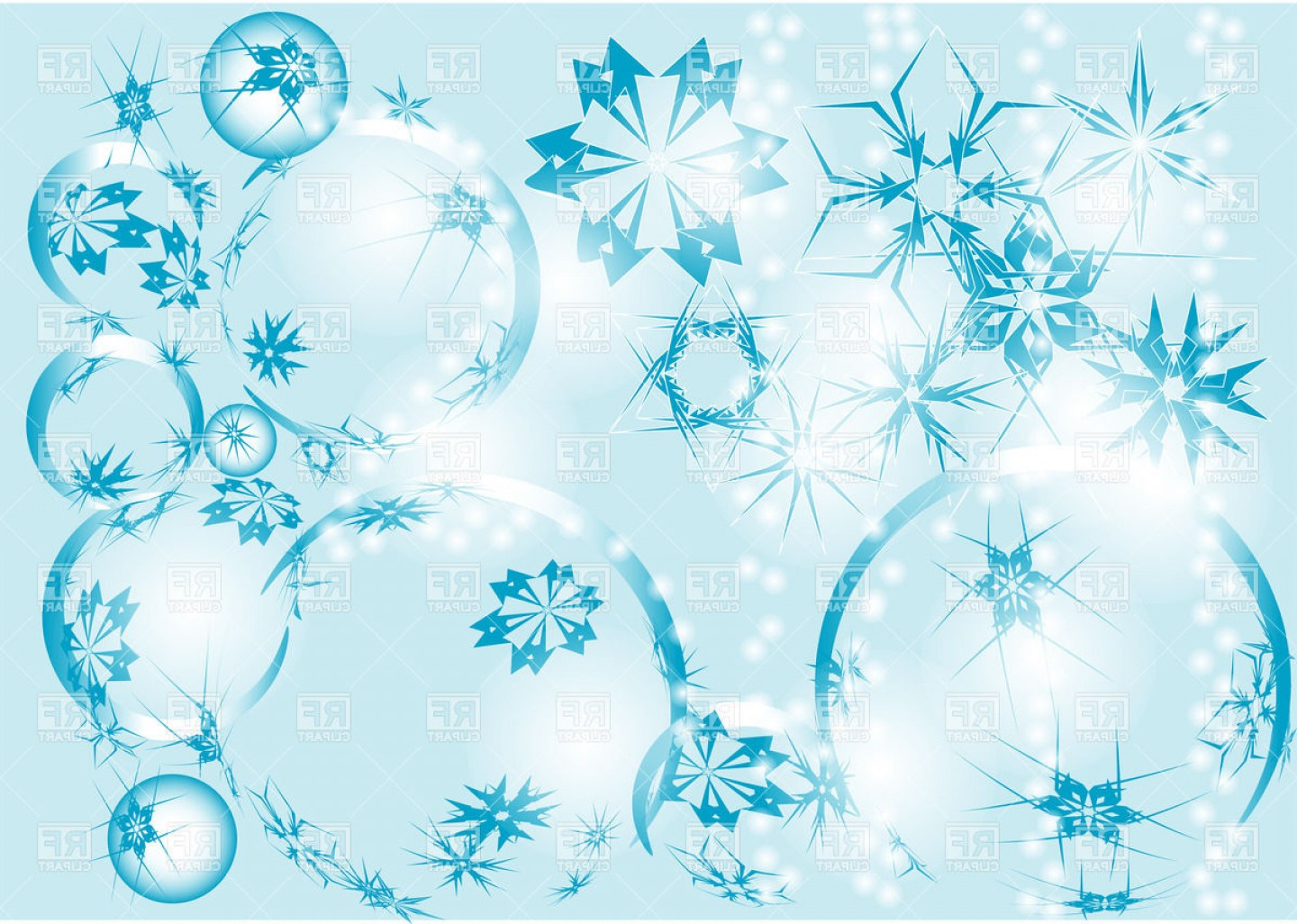 Free Winter Vector: Winter Abstract Background Vector Clipart