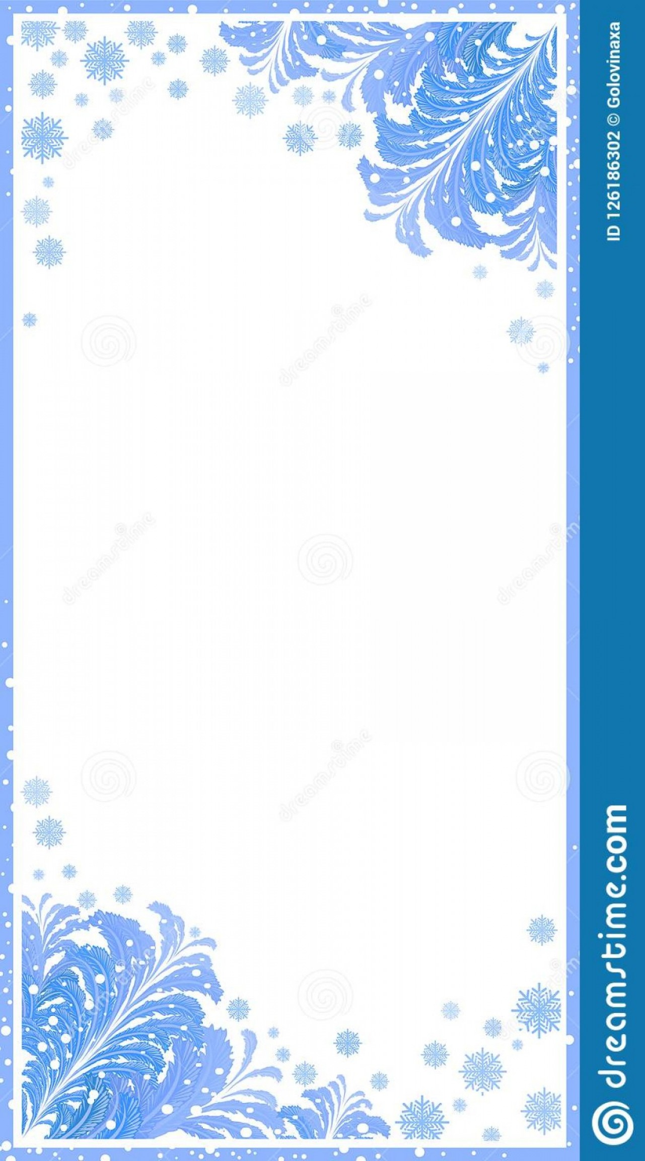 Frost Border Vector: Winter Frame Snow Christmas Background Snowflake Border Vector Snowflakes Frost White Holiday Illustration Season Ne Ice Image
