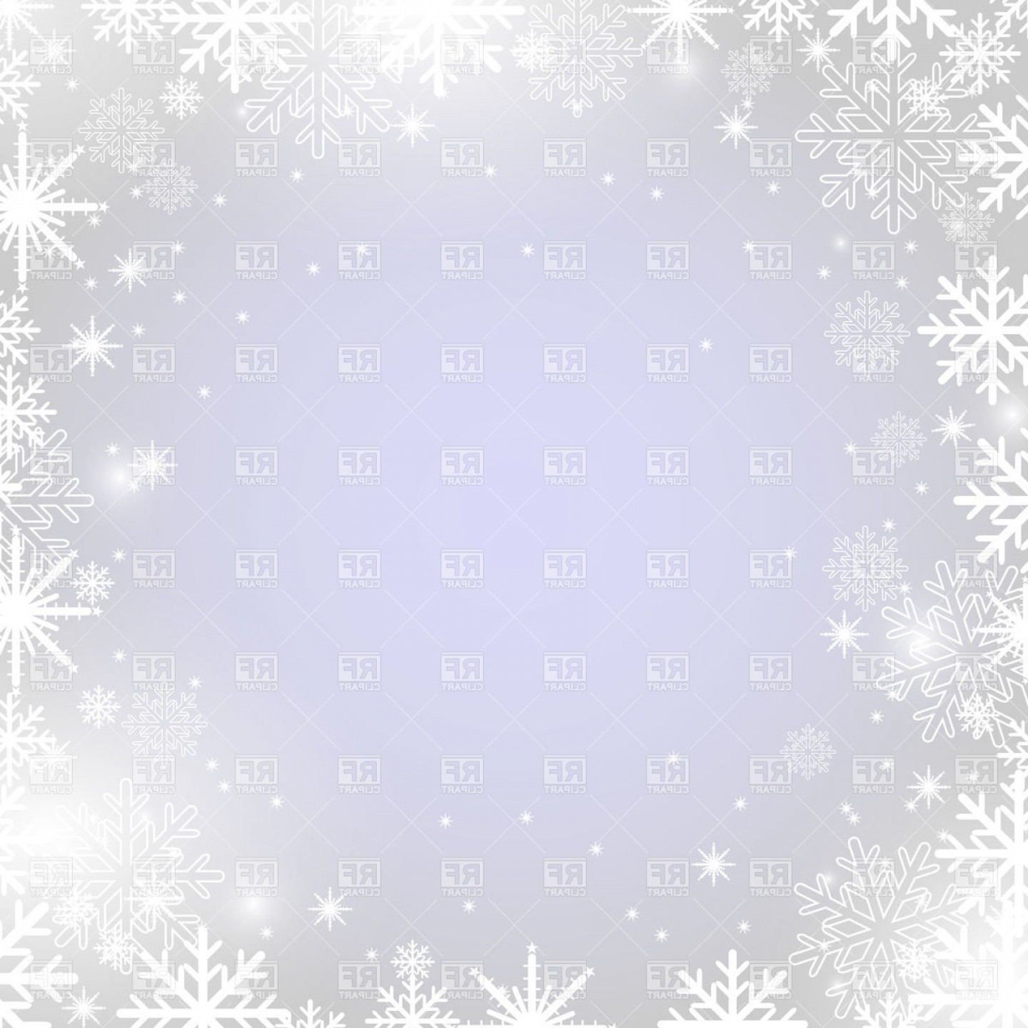 Free Winter Vector: Winter Frame With Snowflakes Vector Clipart