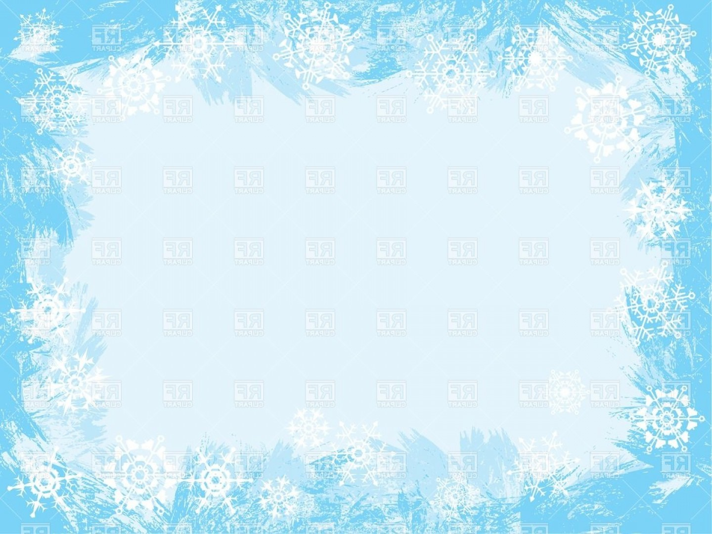 Free Winter Vector: Winter Icy Frame Vector Clipart