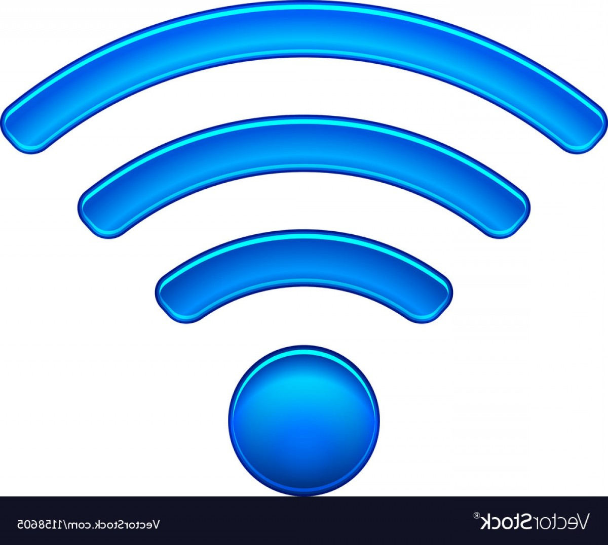 Wifi Symbol Clip Art Vector: Wireless Network Symbol Wifi Icon Vector