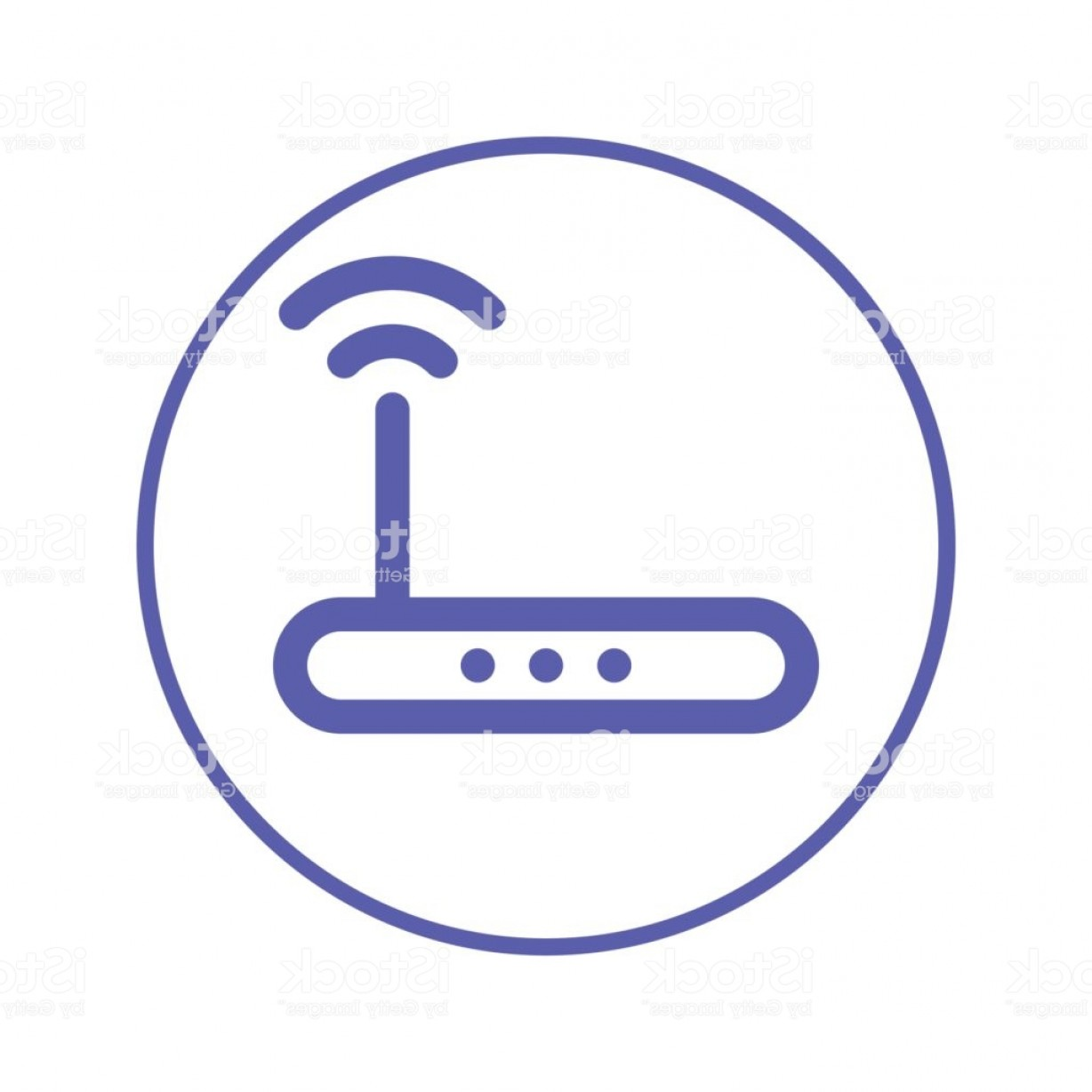 Wifi Symbol Clip Art Vector: Wireless Wi Fi Router Circular Line Icon Round Sign High Speed Internet Connection Gm