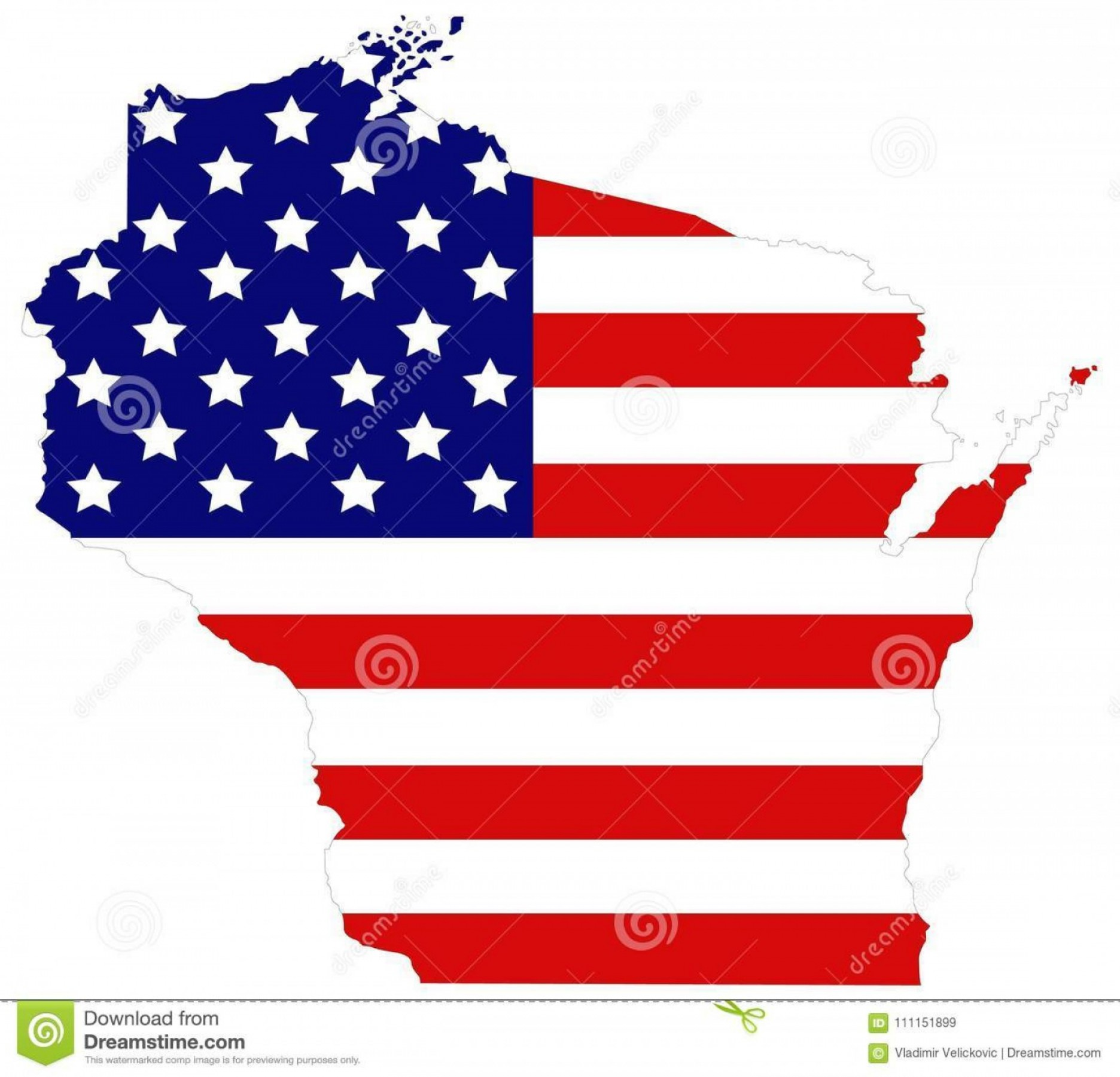 WI County Map Vector: Wisconsin Map Usa Flag State North Central United States Vector File Wisconsin Map Usa Flag State North Image