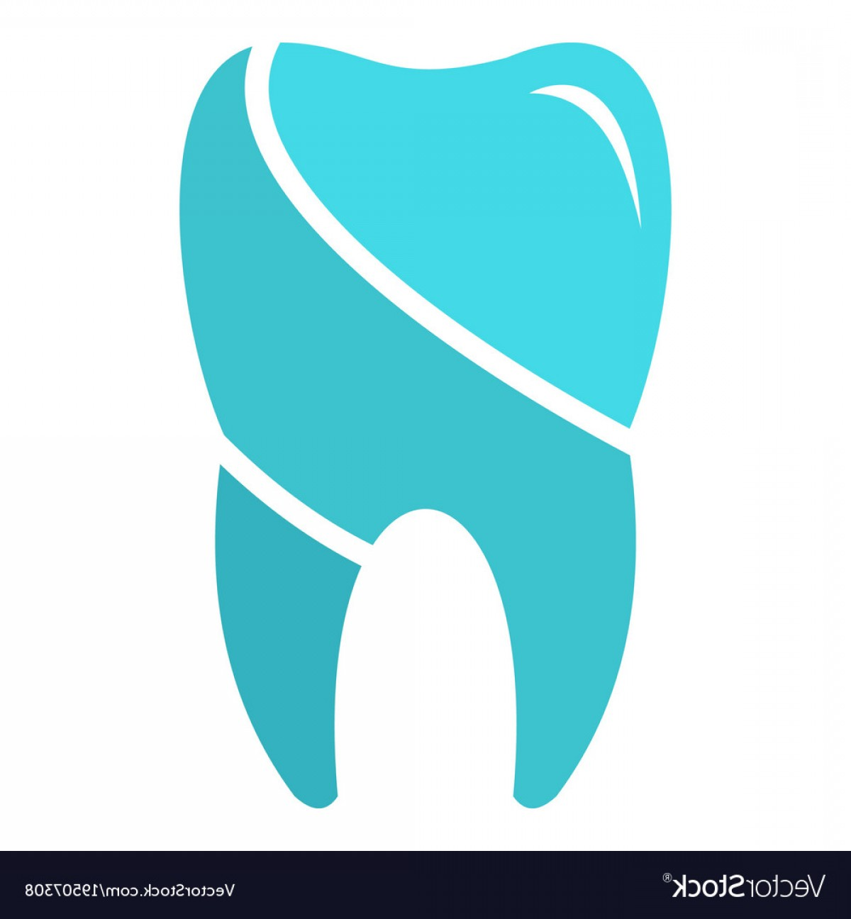 Tooth Vector Logo: Wise Tooth Logo Icon Flat Style Vector