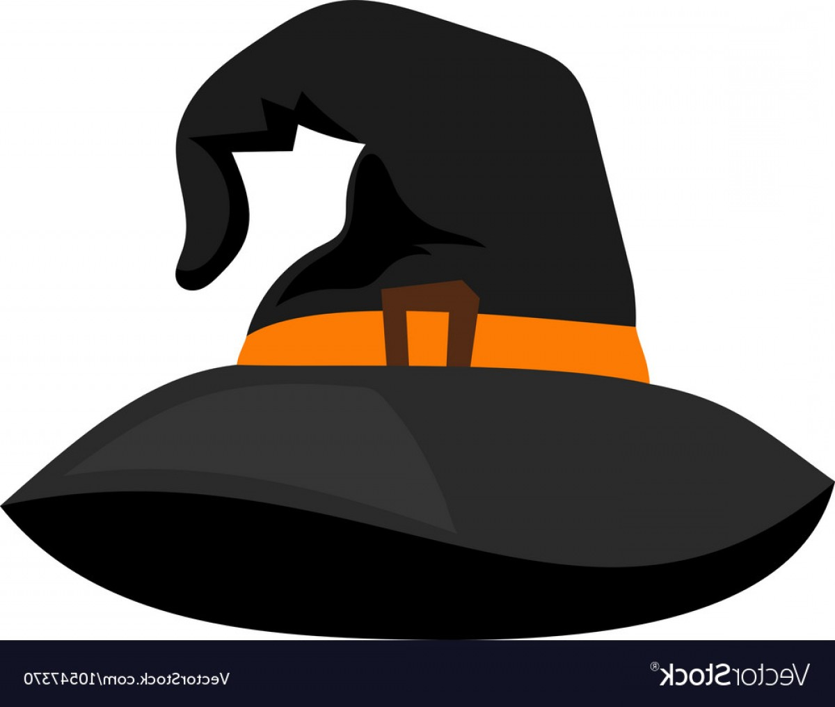 Halloween Witch Hat Vector: Witch Hat Or Sorceress Cap Halloween Vector