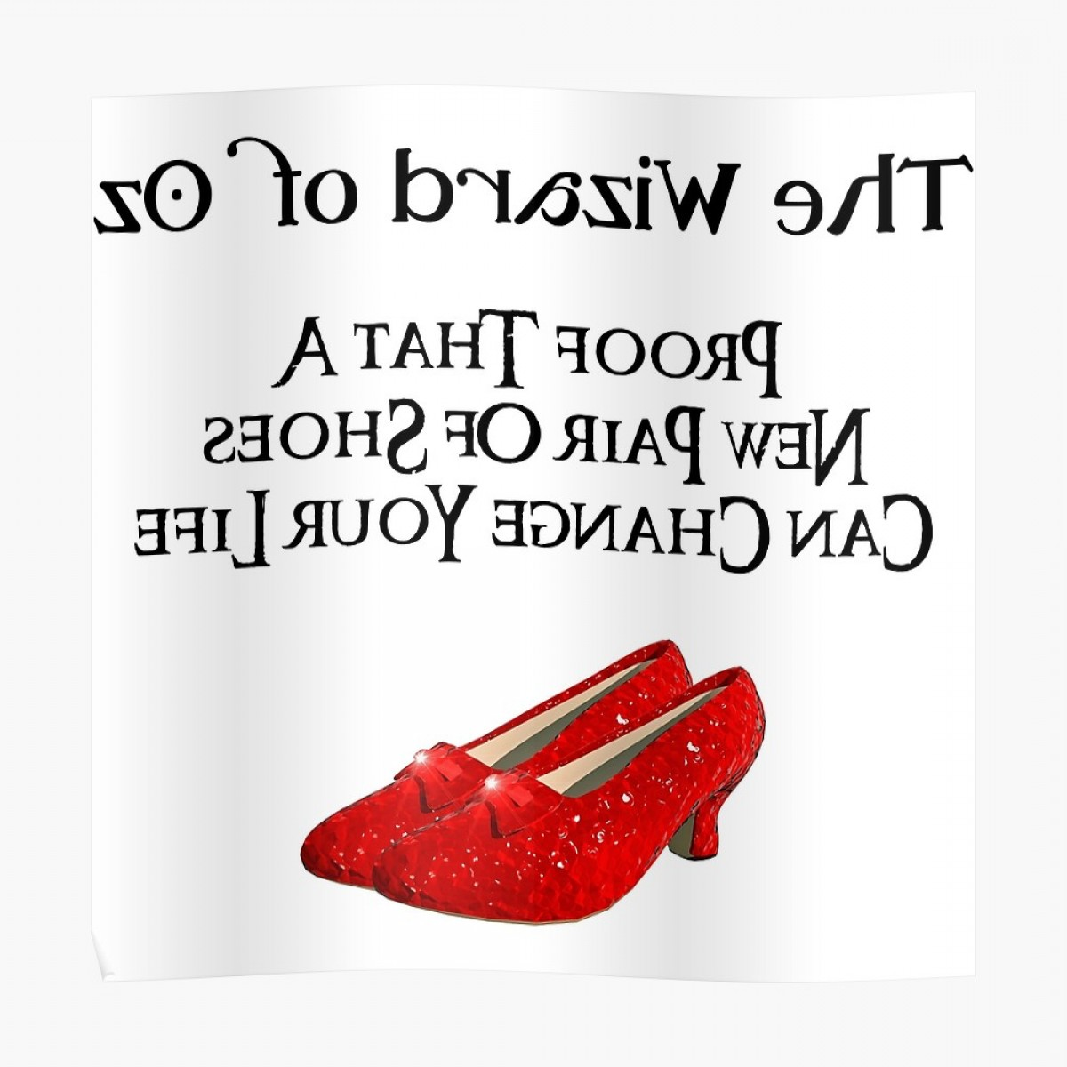 Ruby Red Slippers Vector Art: Wizard Of Oz Dorothys Ruby Red Slippers