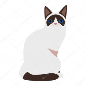 Siamese Cat Silhouette Vector: Wjtmwbvector Cats Siamese Clipart