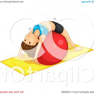 Vector Graphics Extensions: Woman Doing Extensions On An Exercise Ball