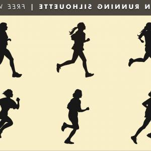 Vector Silhouette Of Girl Running Track: Athletics Watercolor Woman Silhouette Carrying Olympic Fire Vector Clipart