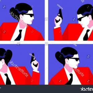 Bond Girls Vector: Illustration Cartoon People Isolated On White