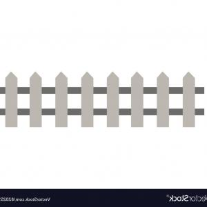 Outdoor Fence Vector: Wooden Fence Garden Wall Picket Vector