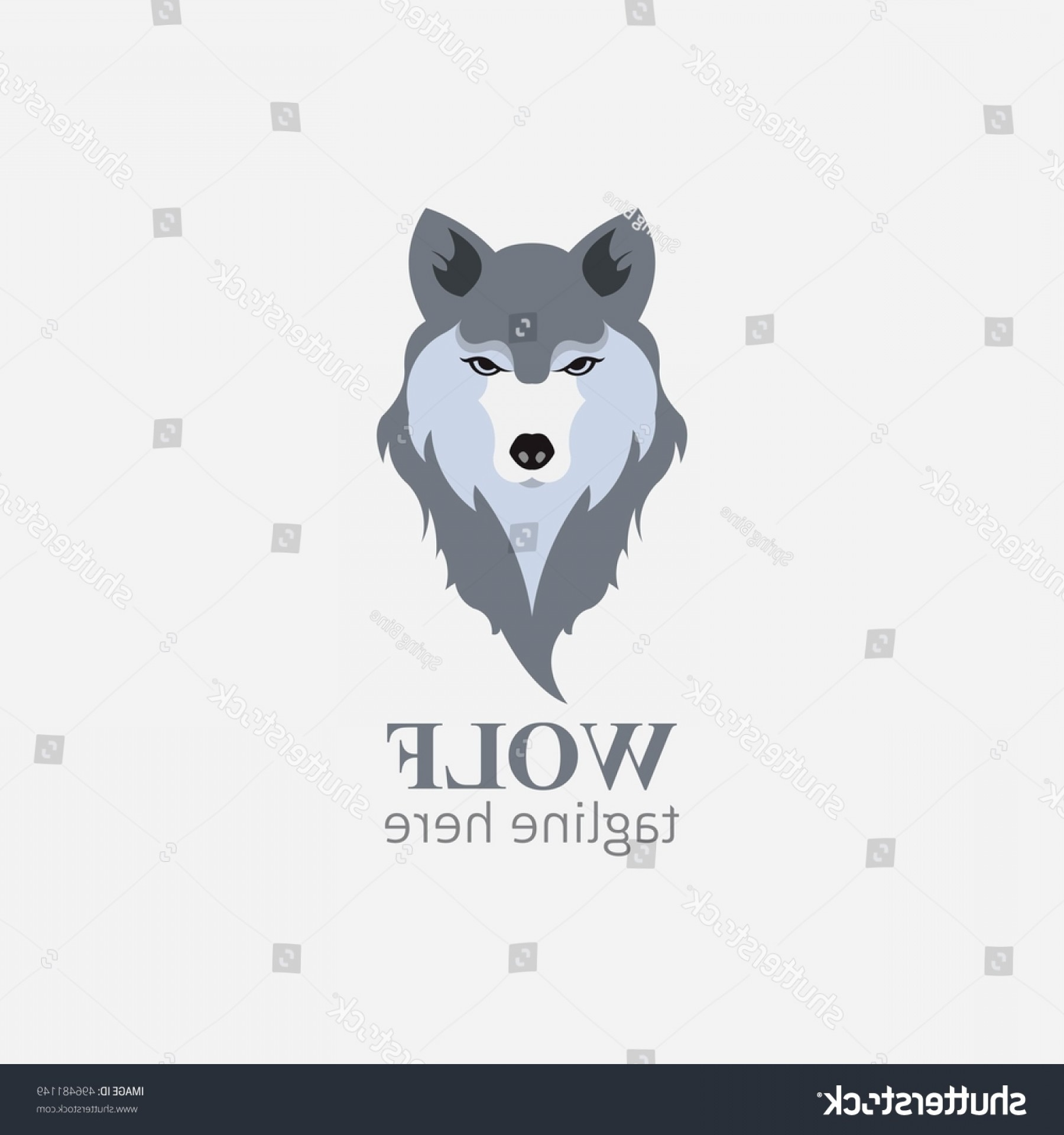Calm Wolf Vector: Wolf Head Vector Illustration Fox Cartoon