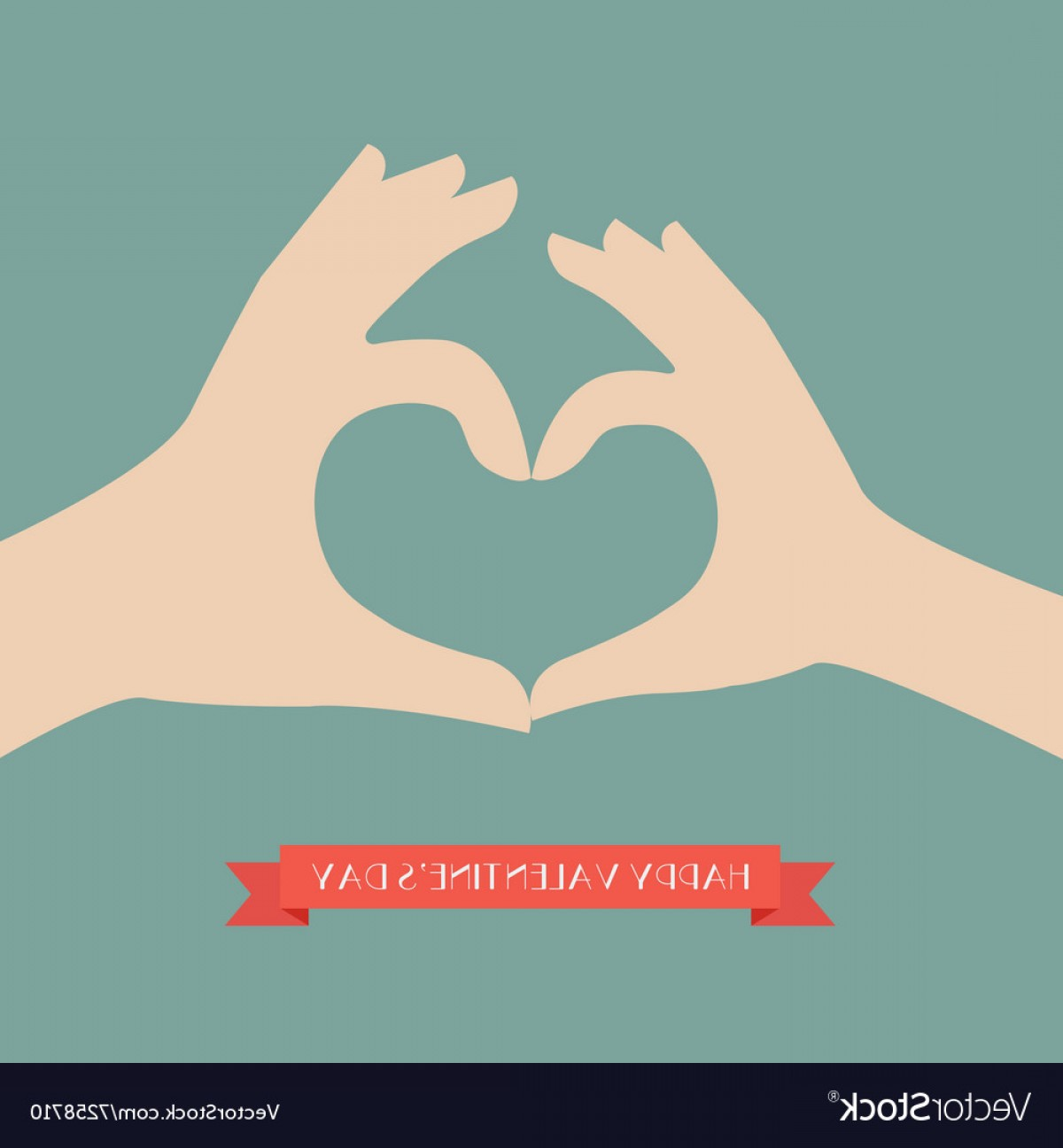 Vector Vector Heart Shaped Hands: Woman And Man Hands Making Up Heart Shape Vector