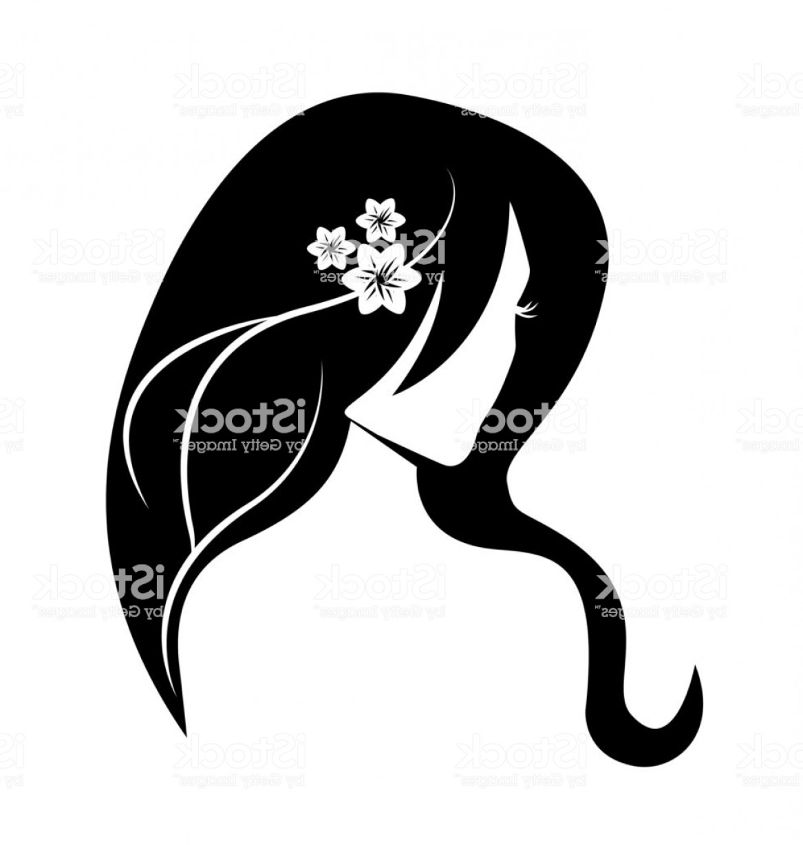 Black Beauty Vector Face: Woman Beauty Face Girl Silhouette Vector Gm