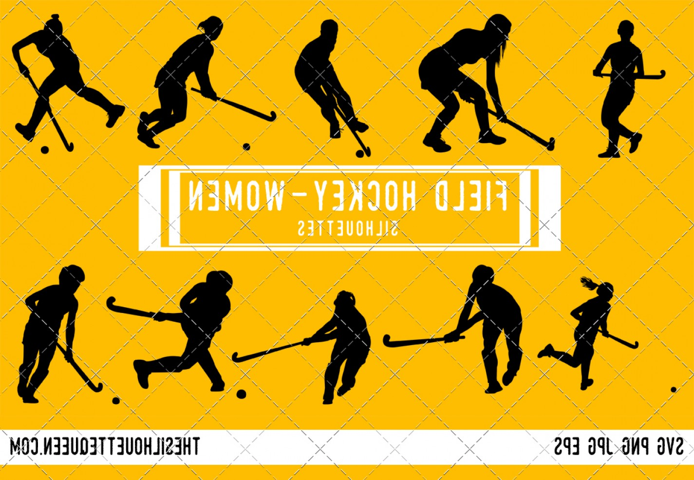 Hockey Player Silhouette Vector: Woman Field Hockey Player Silhouette Vector Svg Pn