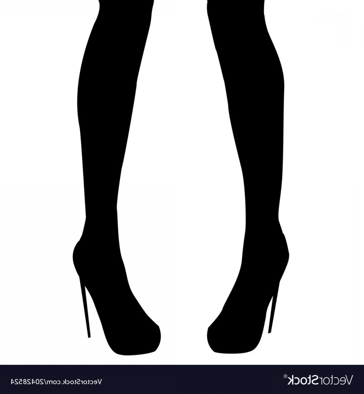 Silhouette Hee High Vector Lsitleetios: Woman Legs In High Heel Shoes Vector