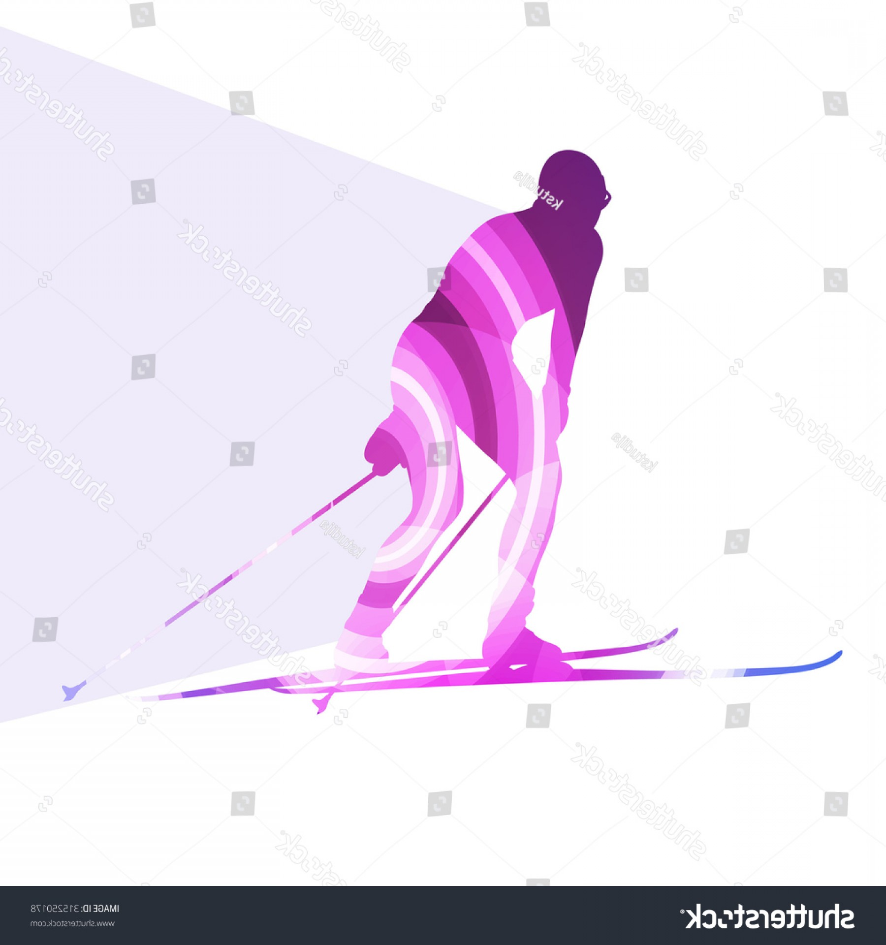 Transparent PNG Vector Skier: Woman On Ski Silhouette Illustration Vector