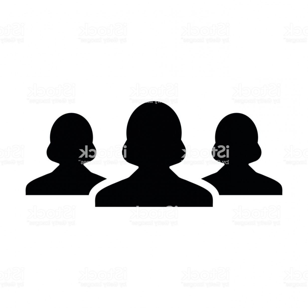 Sillouhette Vector Group: Woman Team Icon Vector Group Of People Pictogram Gm