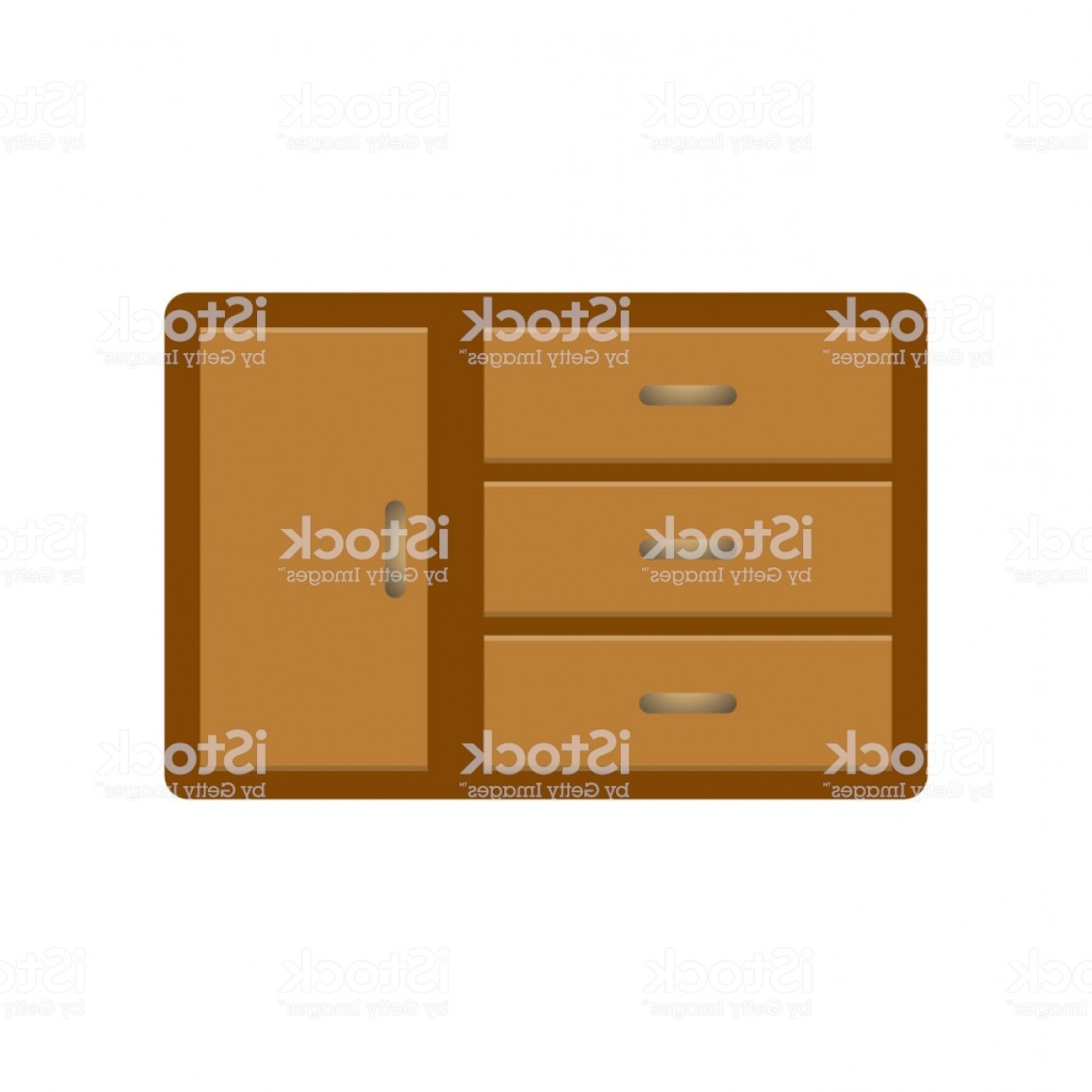 What Are Vectors Used For: Wooden Cabinet Can Be Used For Interior Vector Illustration Gm