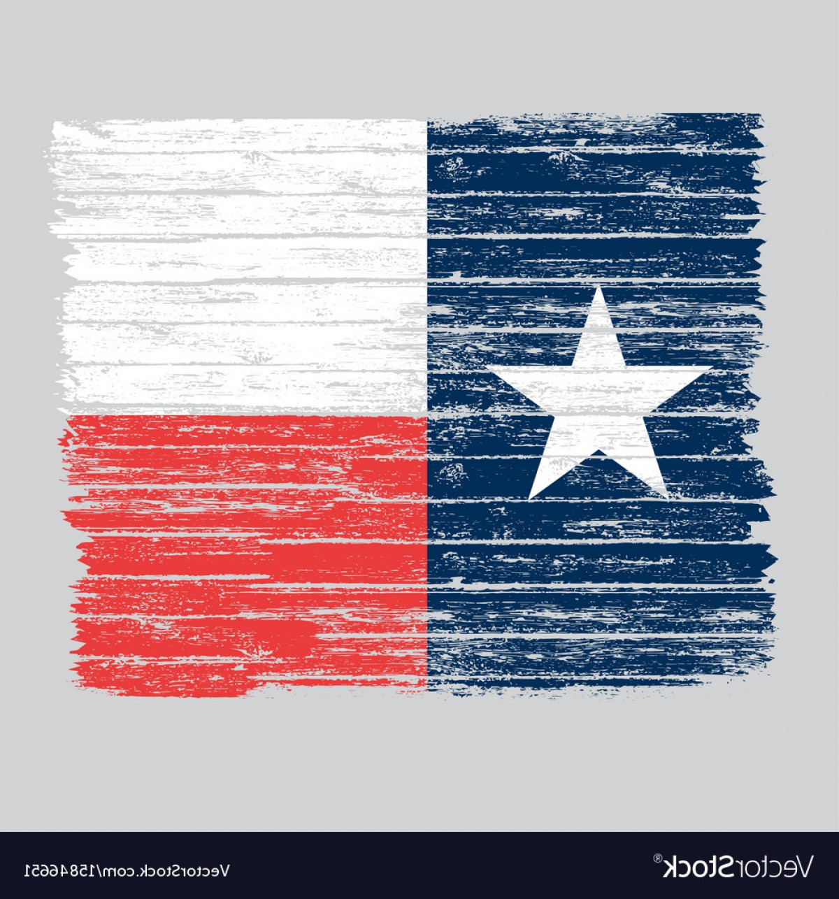 Texas Flag Vector Art: Wooden Grunge Texas Flag Vector