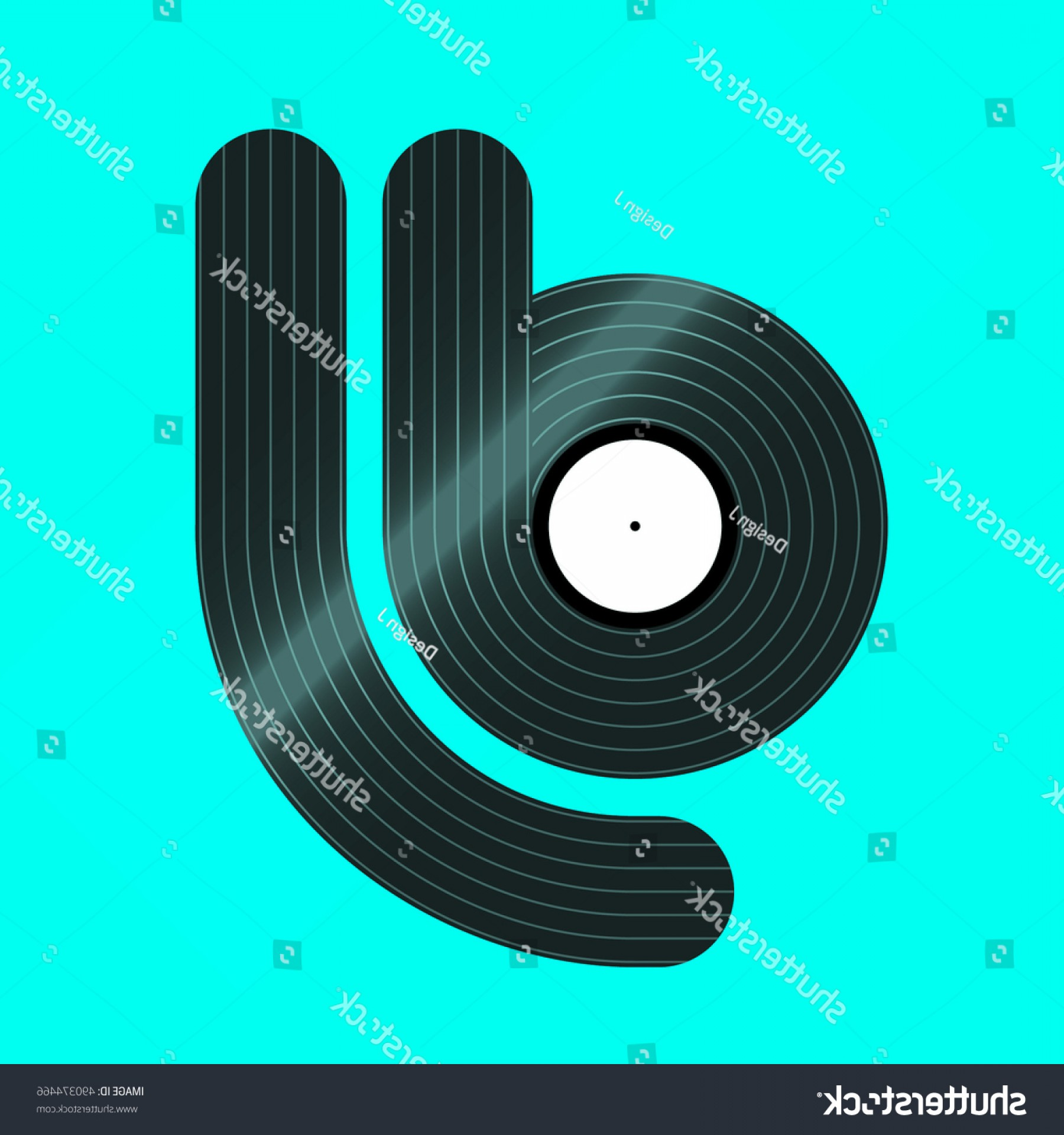 Vinyl Vector Tools: Word Dj Stylized Vinyl Vector Background