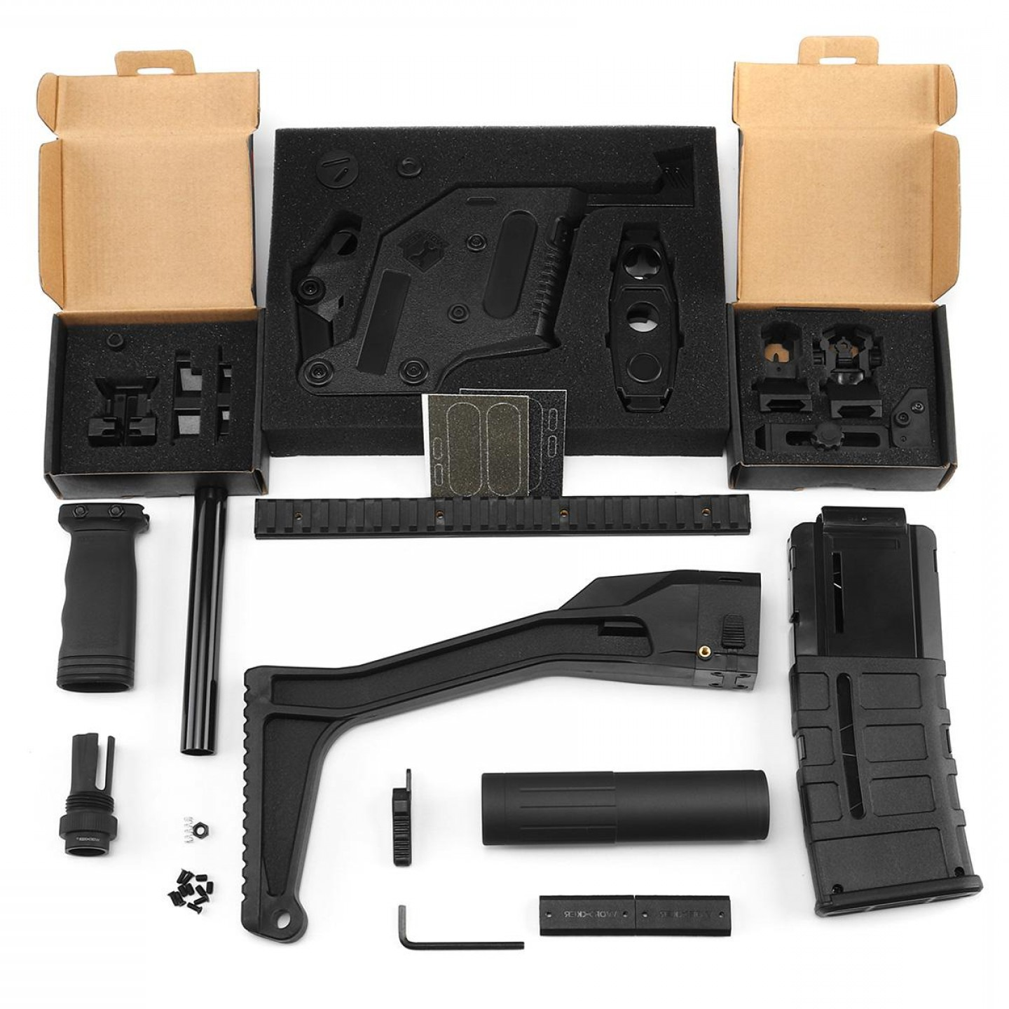 Vector Kriss Scope: Worker Mod Kriss Vector Imitation Kit Combo Items W Tactical Quick Deploy Flip Up Scope For Nerf Stryfe Modify Toy