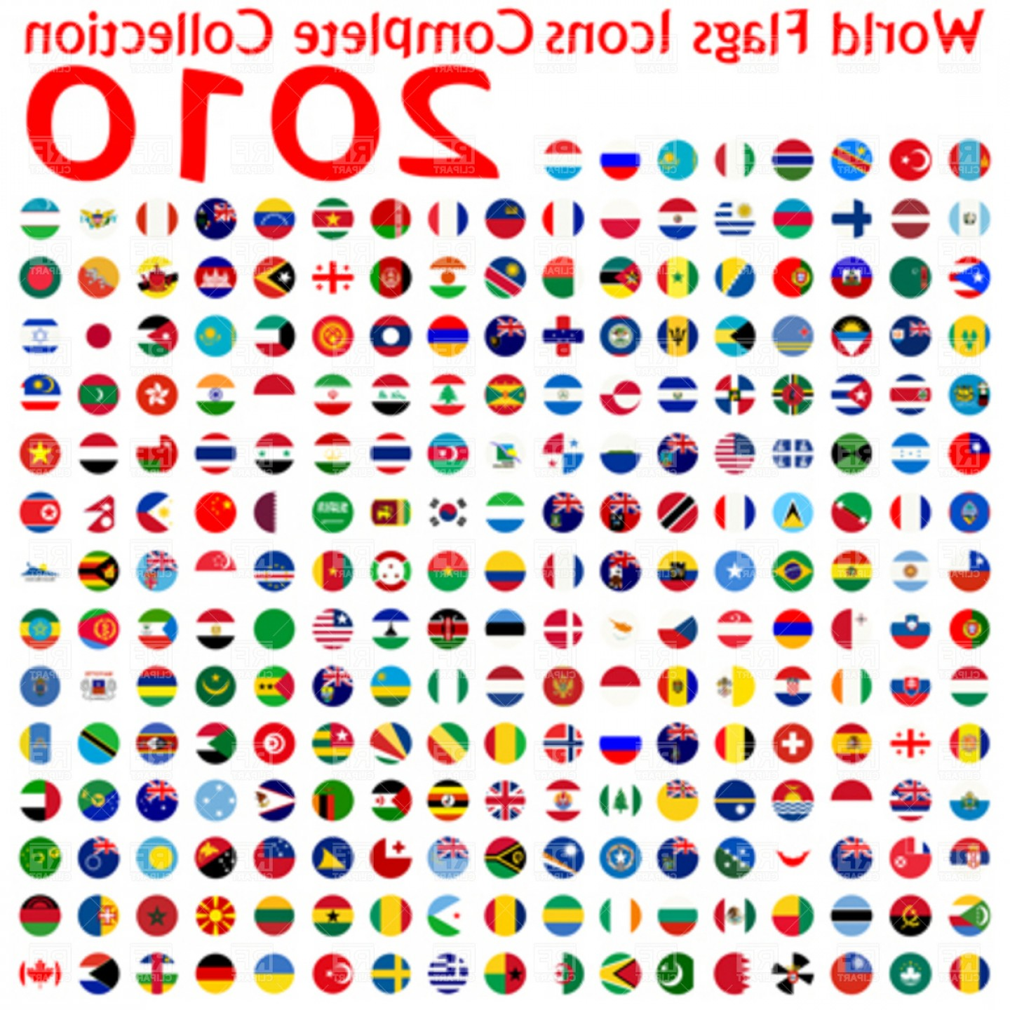Free EPS Vector Art: World Flags Icons Collection Abstract Vector Art Illustration Vector Clipart