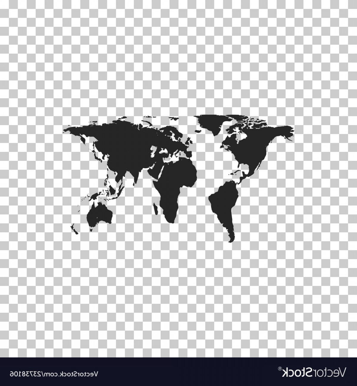 BG Vector Map: World Map Icon Isolated On Transparent Background Vector