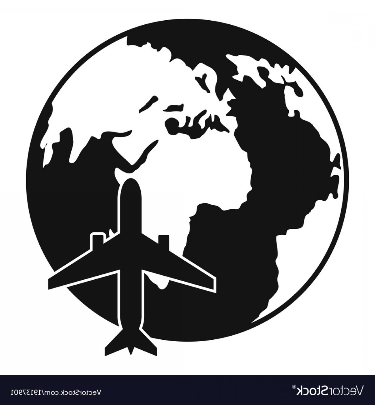 World Icon Vector Simple: World Tourism Icon Simple Style Vector