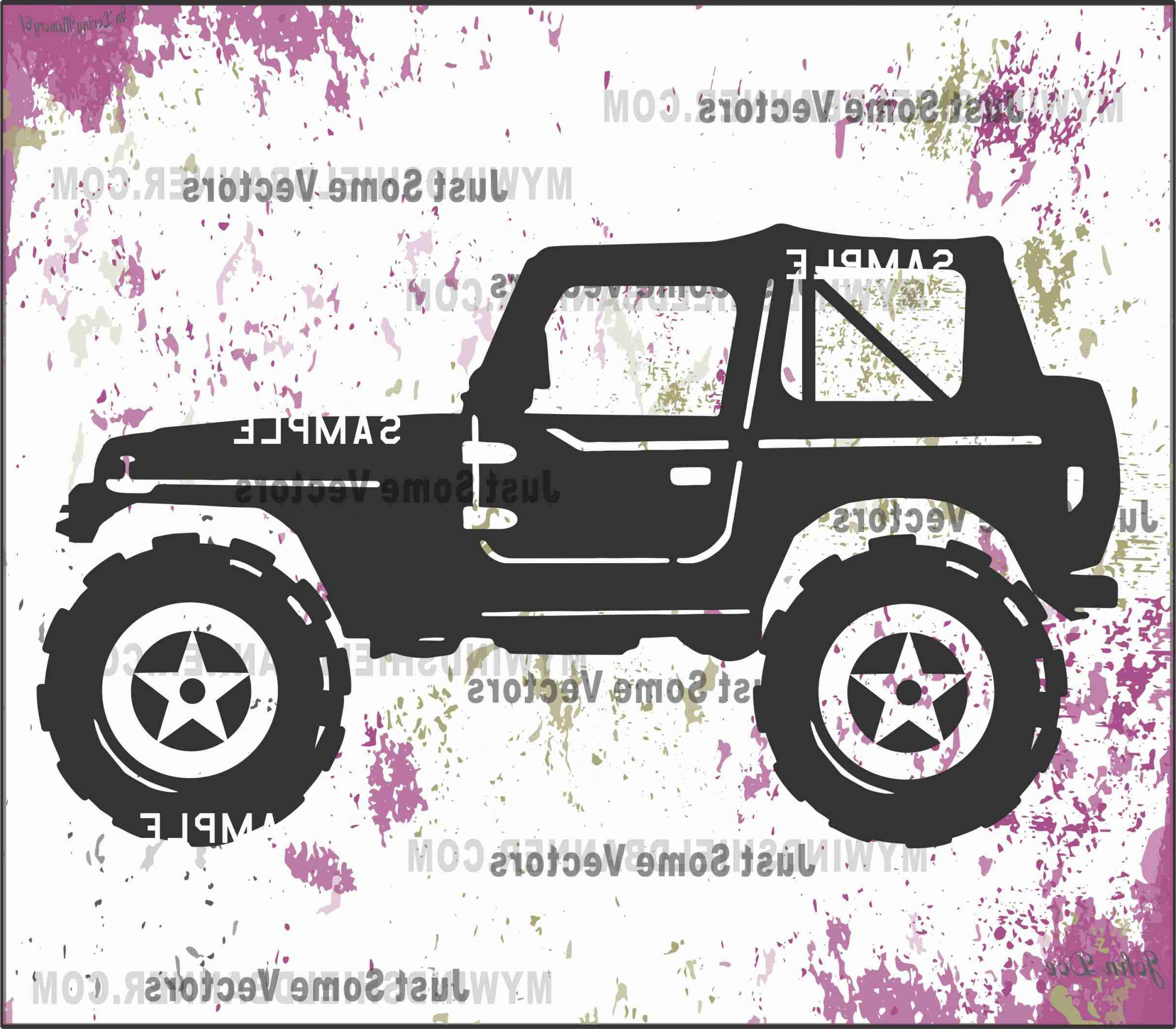 Jeep Tire Vector: Wrangler Looking Jeep Style Vector Files