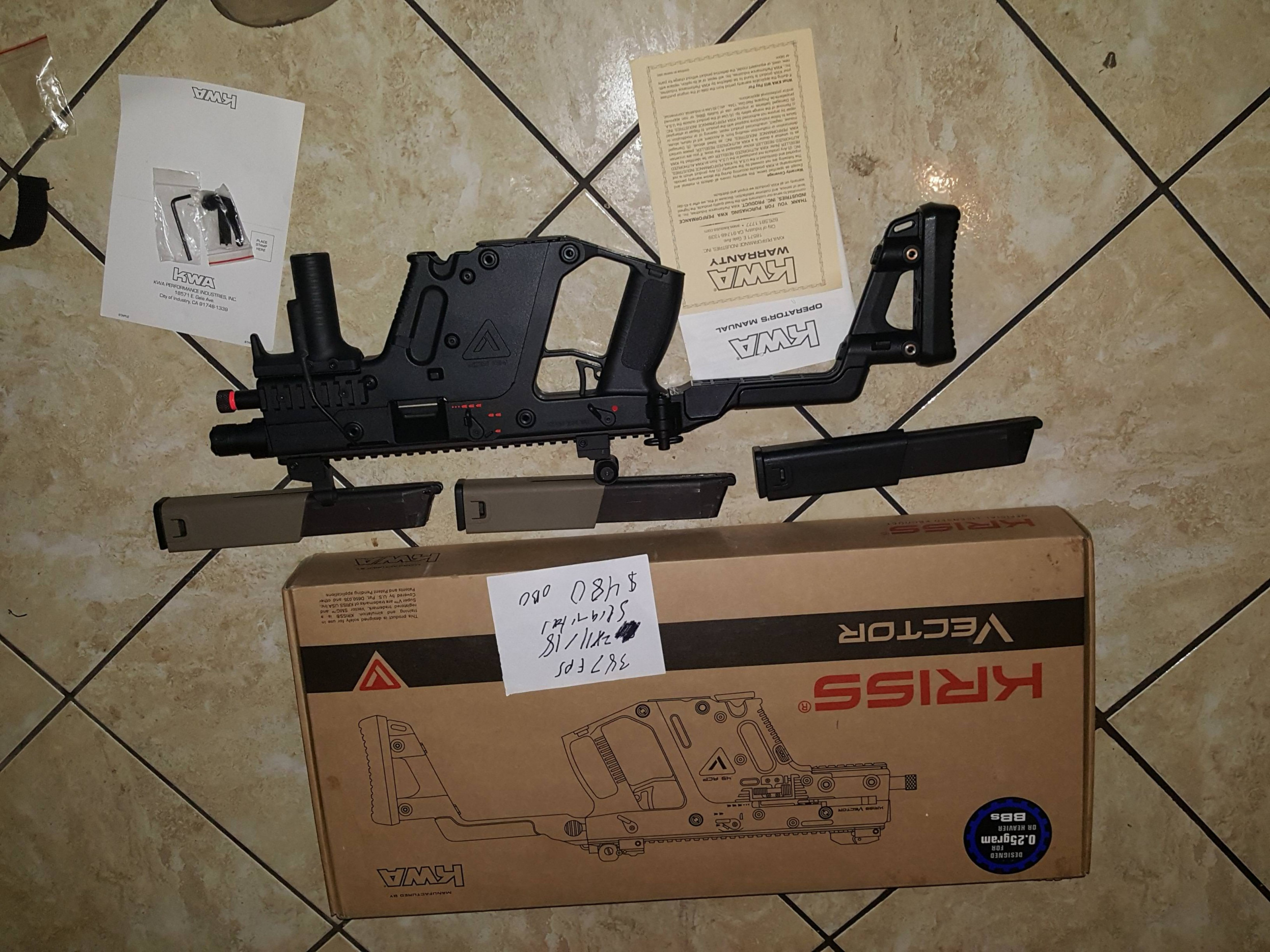 KWA KRISS Vector Parts: Wts Kwa Kriss Vector In Box