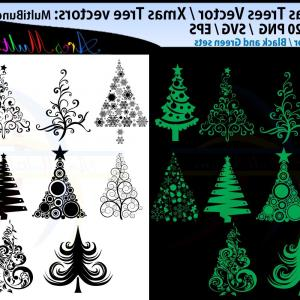Pine Tree Outline Vector: X Mas Tree Svg Christmas Tree Svg Silhouette Christmas Tree Svg Bundle Green And Black Svg Silhouette Clipart