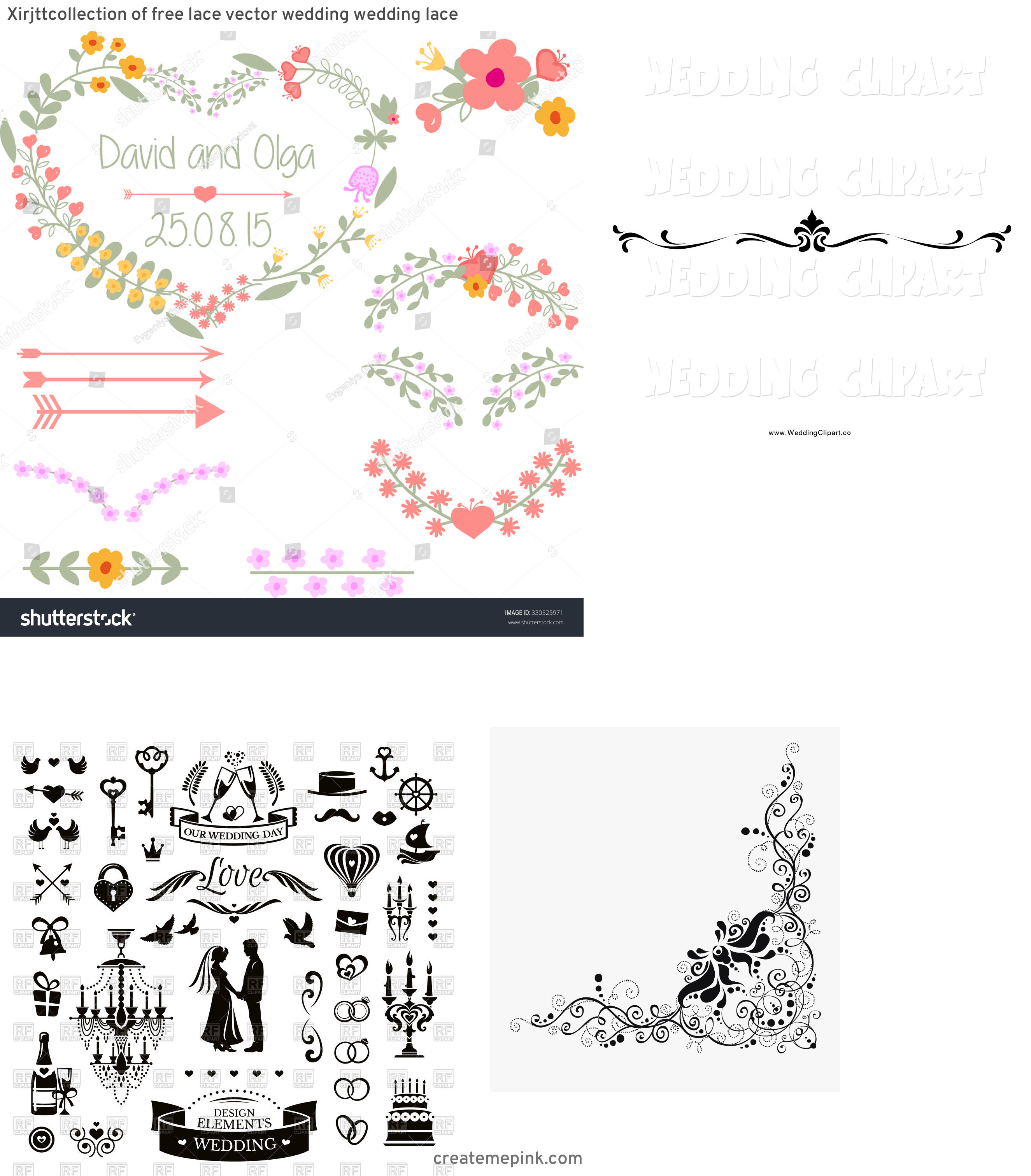 Vector Wedding Clip Art: Xirjttcollection Of Free Lace Vector Wedding Wedding Lace