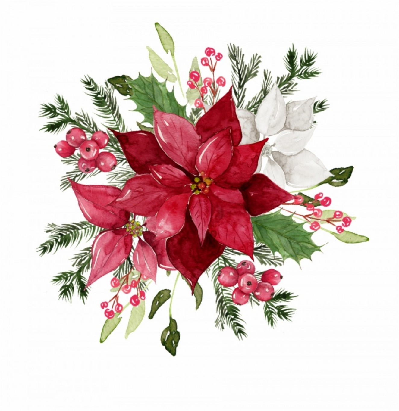 Watercolor Vector Free Designs: Xrhihwred Watercolor Flowers Free Matting Vector Free Download