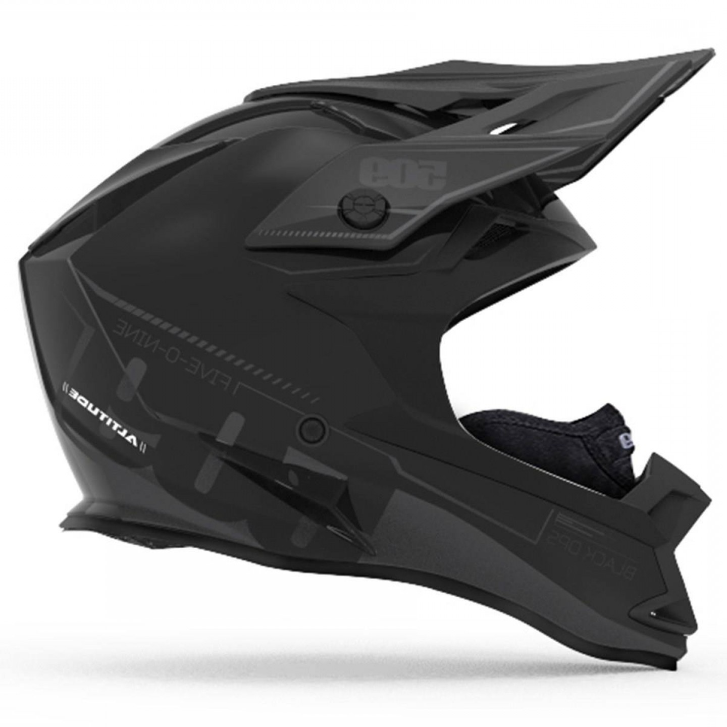 ECU Yamaha Vector: Yamaha Altitude Snow Helmet With Fidlock Black Ops Detail