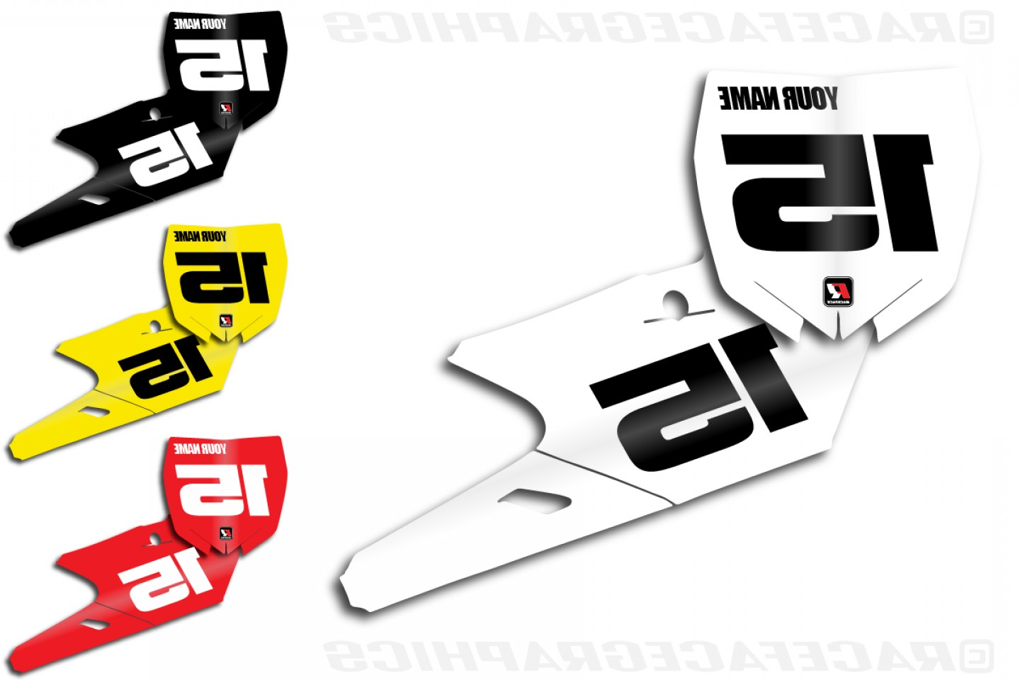 Motocross Number Plate Vector Art: Yamaha Classic Series Number Plate Kit