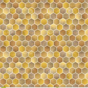 Gold Honeycomb Pattern Vector: Yellow Honeycomb Pattern
