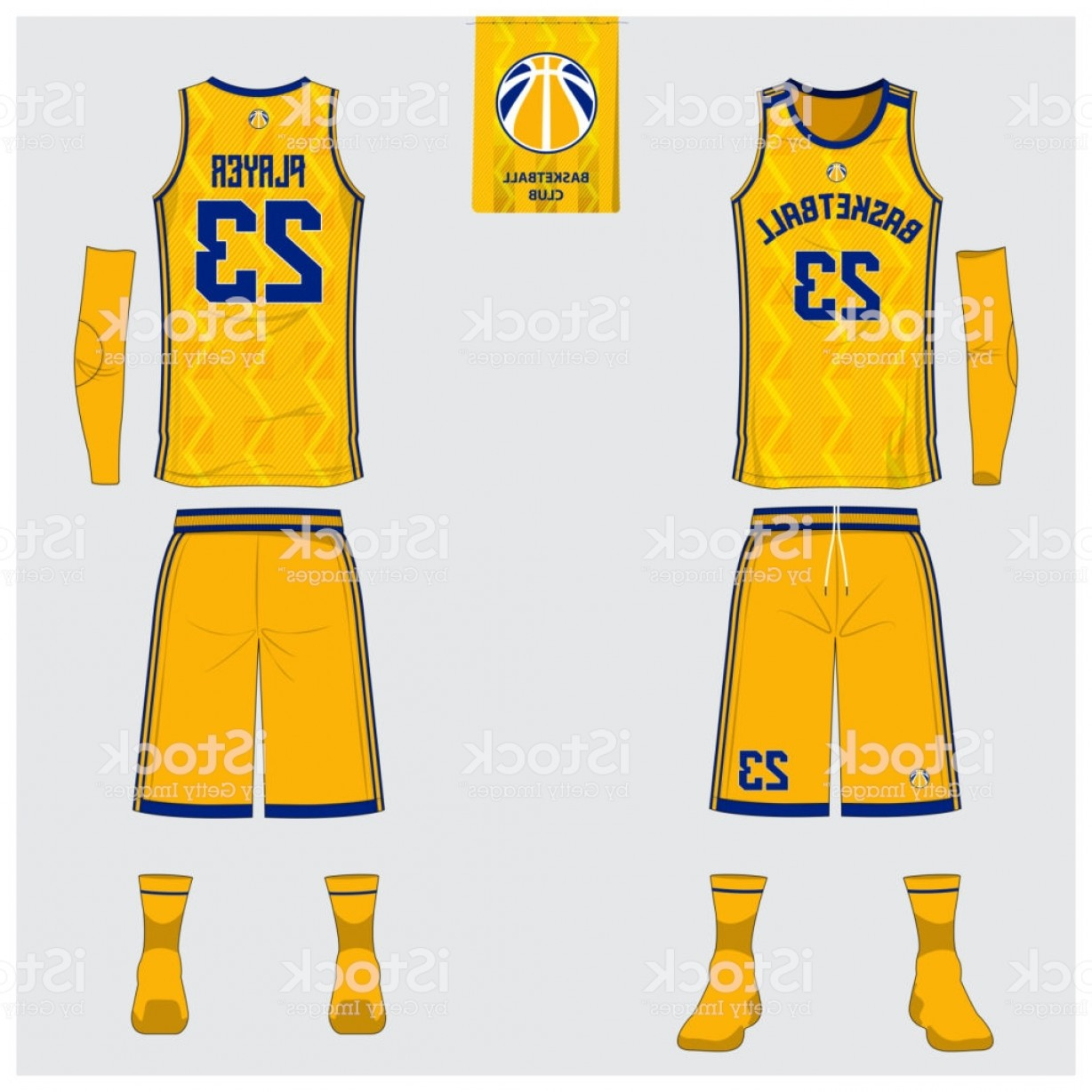 Best Tank Top Vector: Yellow Basketball Jersey Or Sport Uniform Template Design For Basketball Club Front Gm