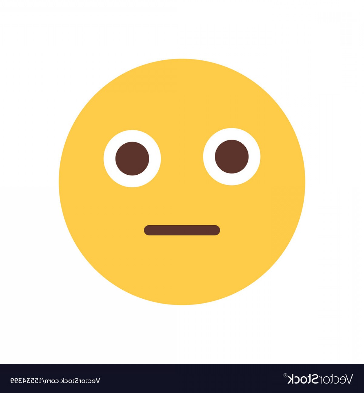 Popular Vector Emoji: Yellow Cartoon Face Shocked Emoji People Emotion Vector