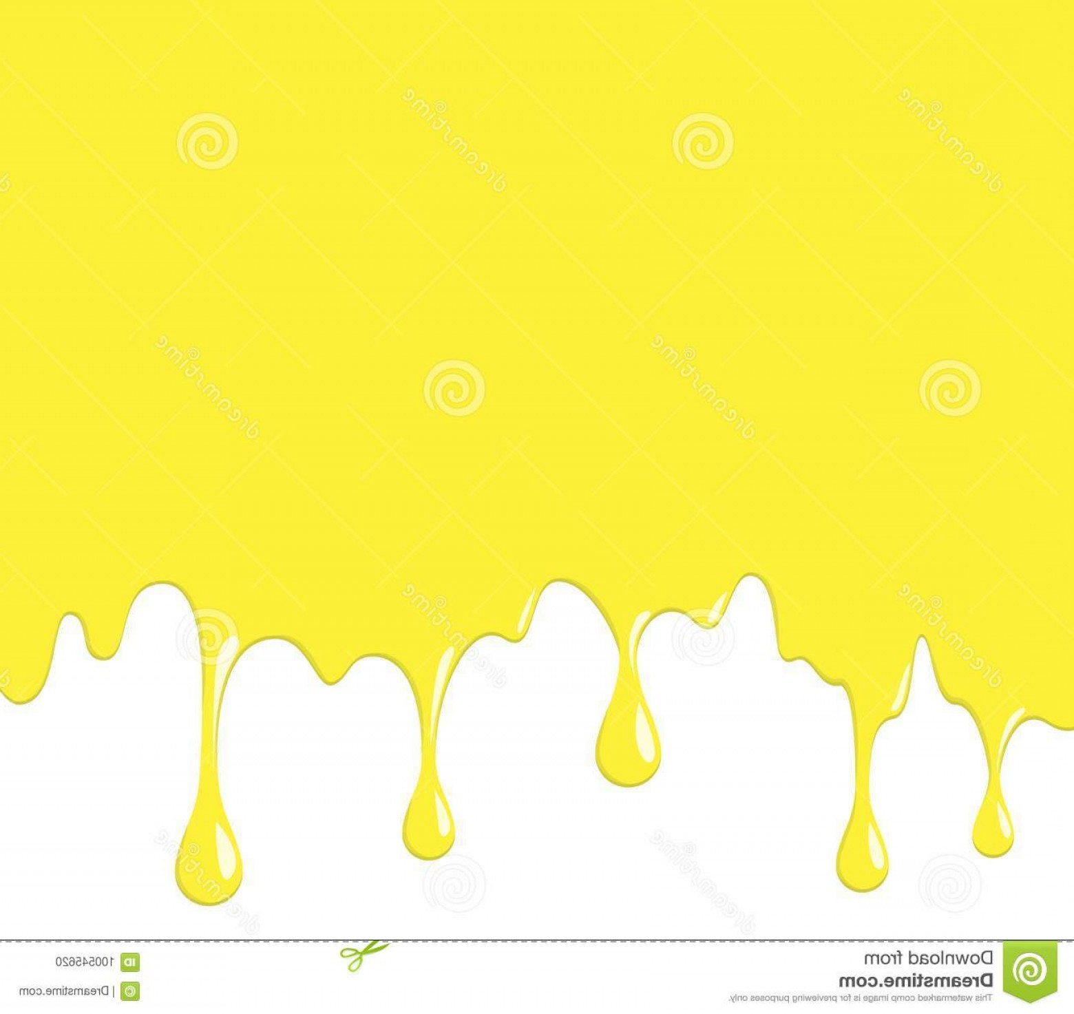 Dripping Paint Vector Illustration: Yellow Cheese Dripping Paint Vector Illustration Molten Driping Image