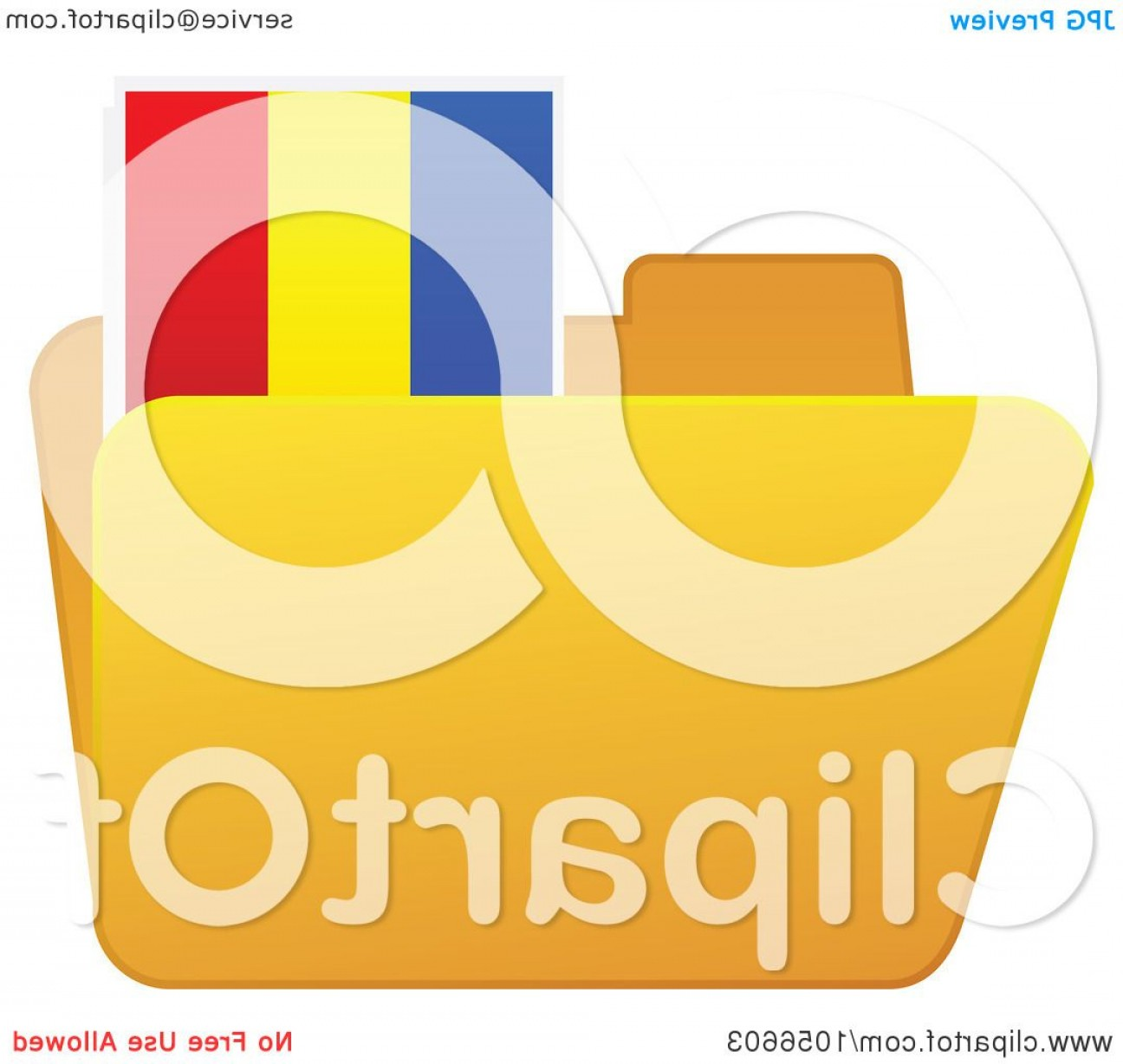 Folder Tab Vectors: Yellow Folder With A Romanian Flag Tab