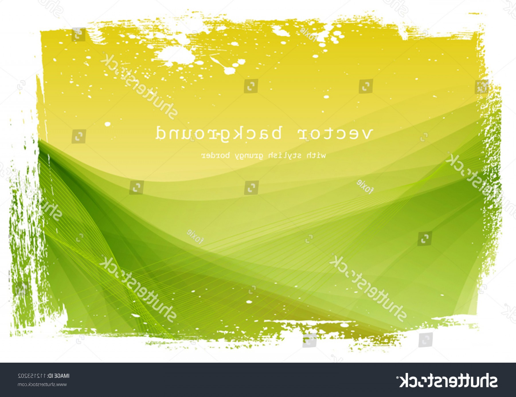 Vector Smooth Green: Yellow Green Vector Smooth Wavy Background